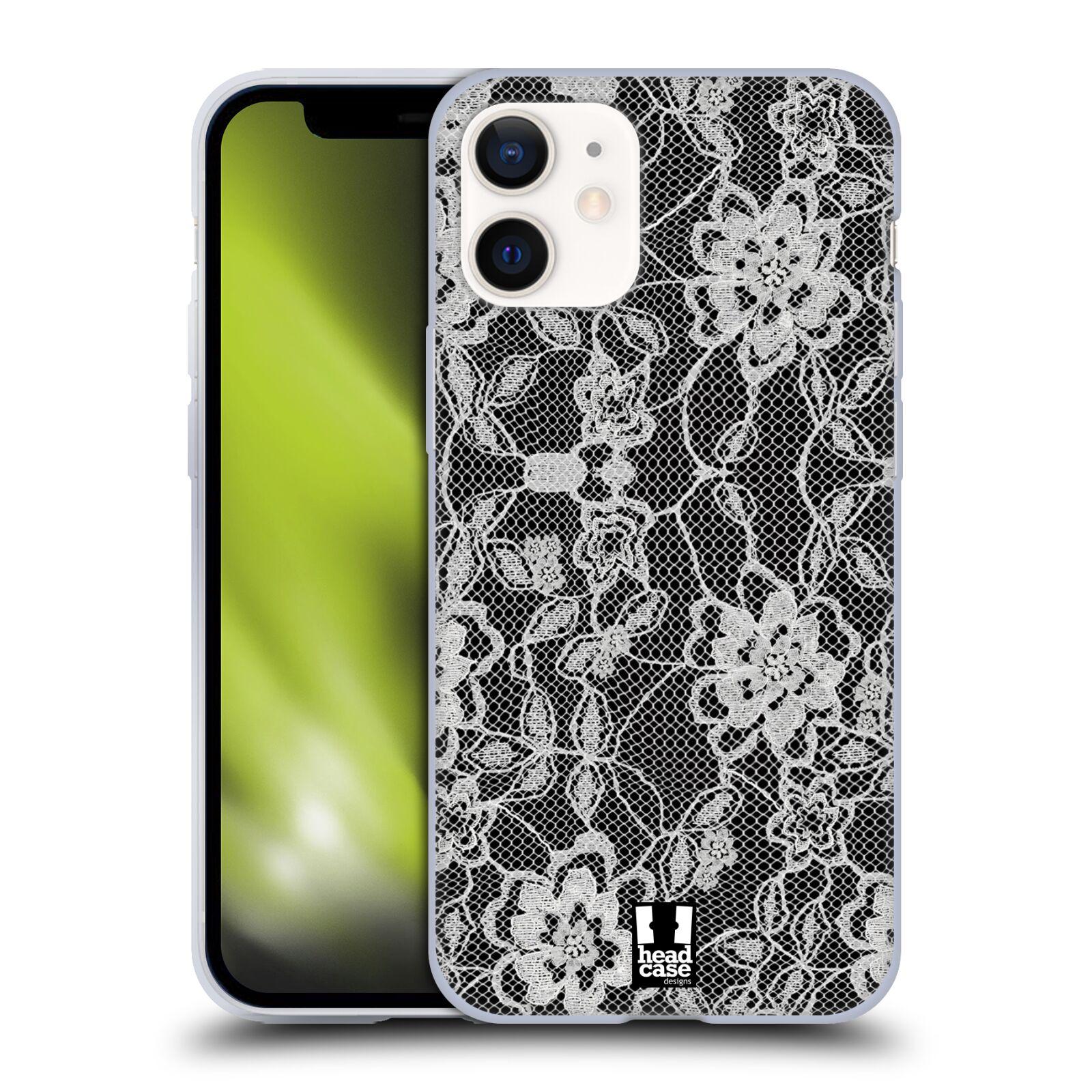 Silikonové pouzdro na mobil Apple iPhone 12 Mini - Head Case - FLOWERY KRAJKA