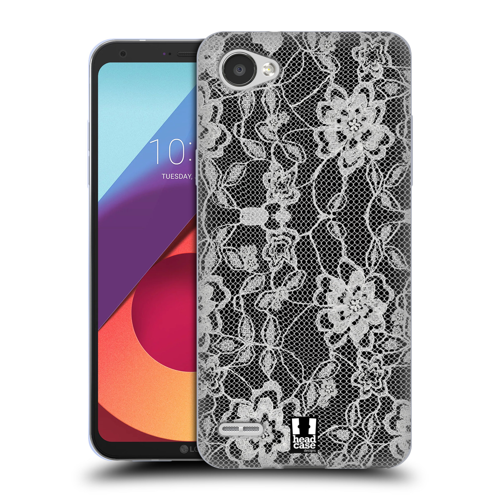 Silikonové pouzdro na mobil LG Q6 - Head Case - FLOWERY KRAJKA