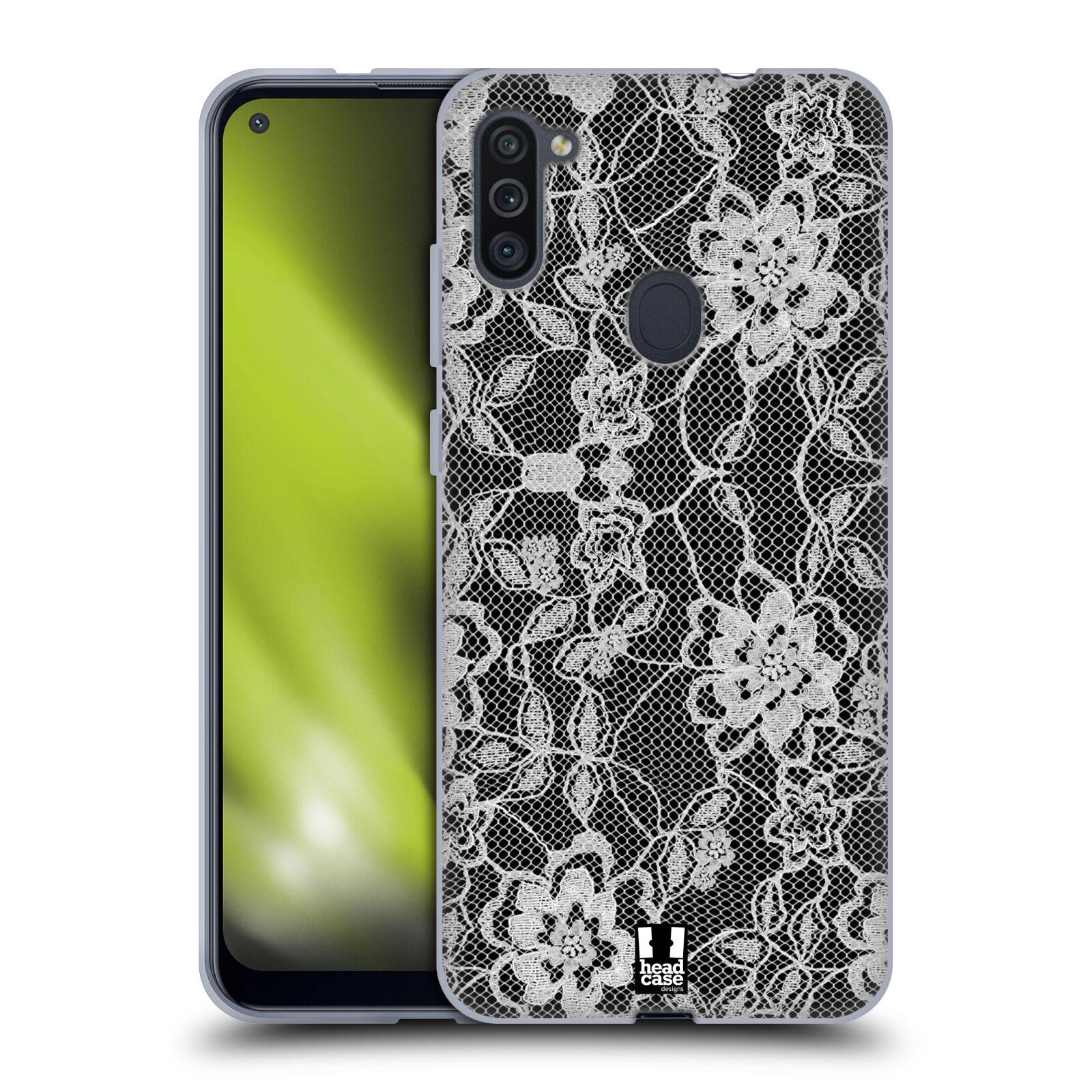 Silikonové pouzdro na mobil Samsung Galaxy M11 - Head Case - FLOWERY KRAJKA