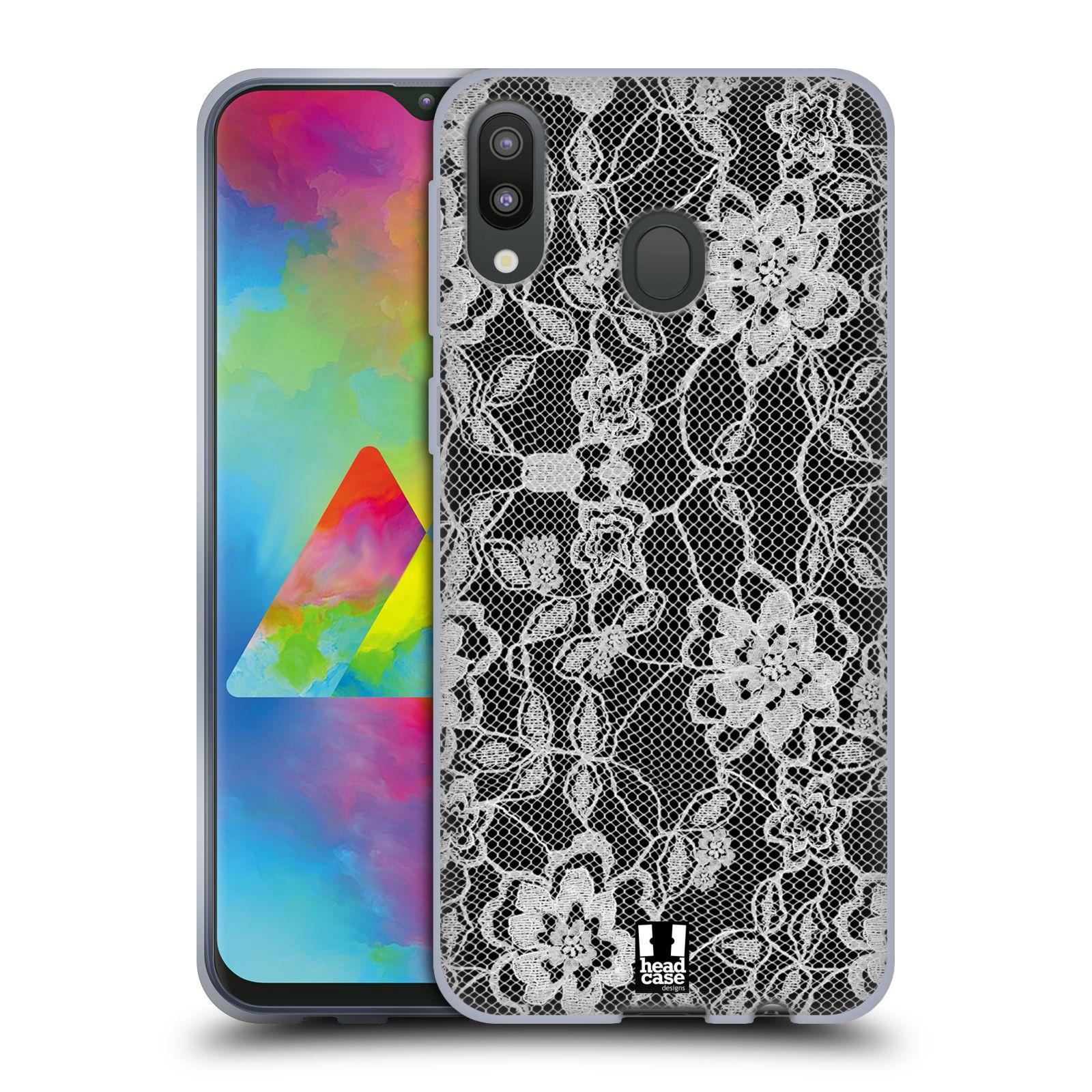 Silikonové pouzdro na mobil Samsung Galaxy M20 - Head Case - FLOWERY KRAJKA