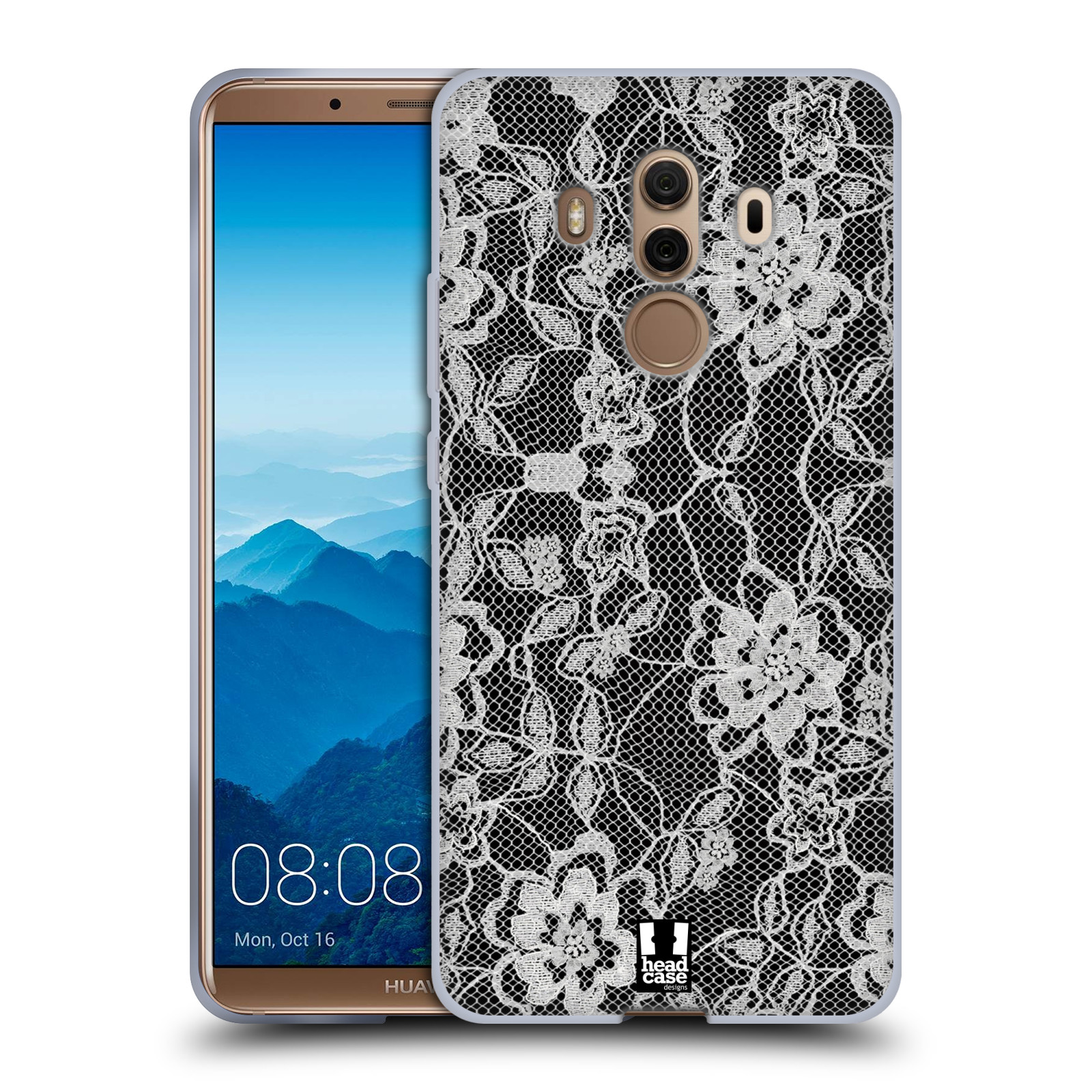 Silikonové pouzdro na mobil Huawei Mate 10 Pro - Head Case - FLOWERY KRAJKA