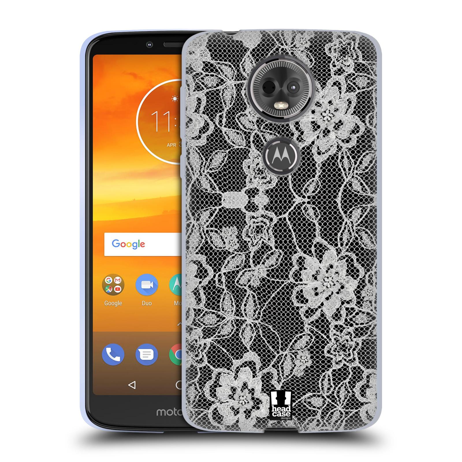 Silikonové pouzdro na mobil Motorola Moto E5 Plus - Head Case - FLOWERY KRAJKA