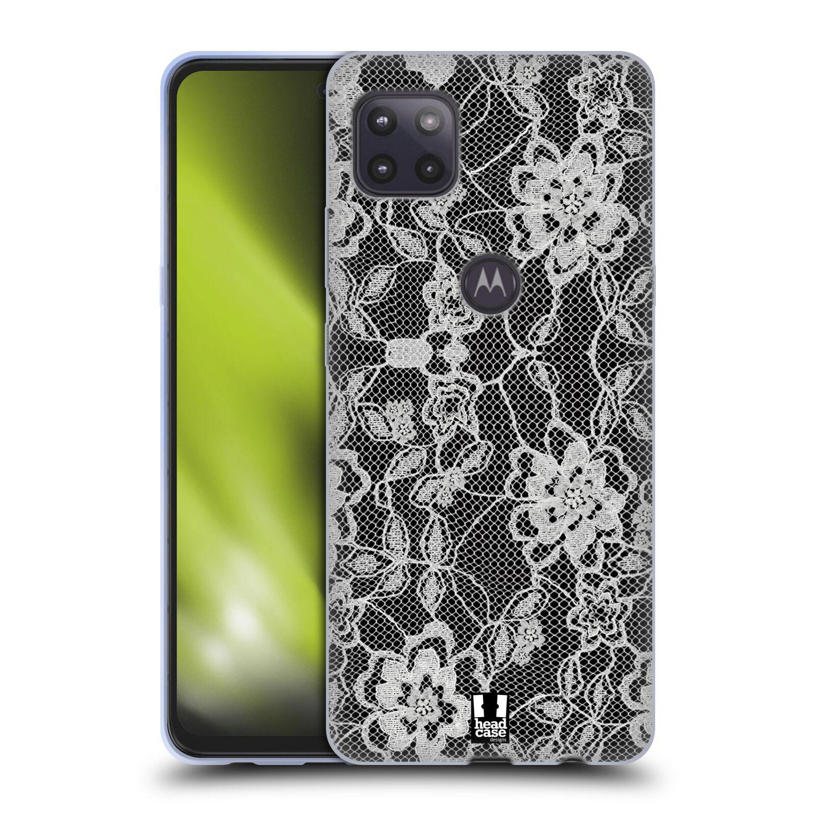 Silikonové pouzdro na mobil Motorola Moto G 5G - Head Case - FLOWERY KRAJKA