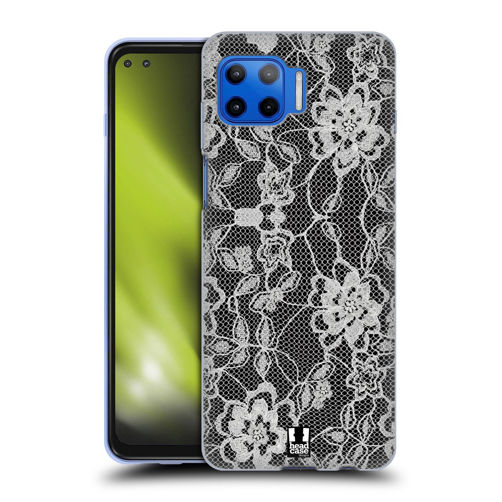 Silikonové pouzdro na mobil Motorola Moto G 5G Plus - Head Case - FLOWERY KRAJKA