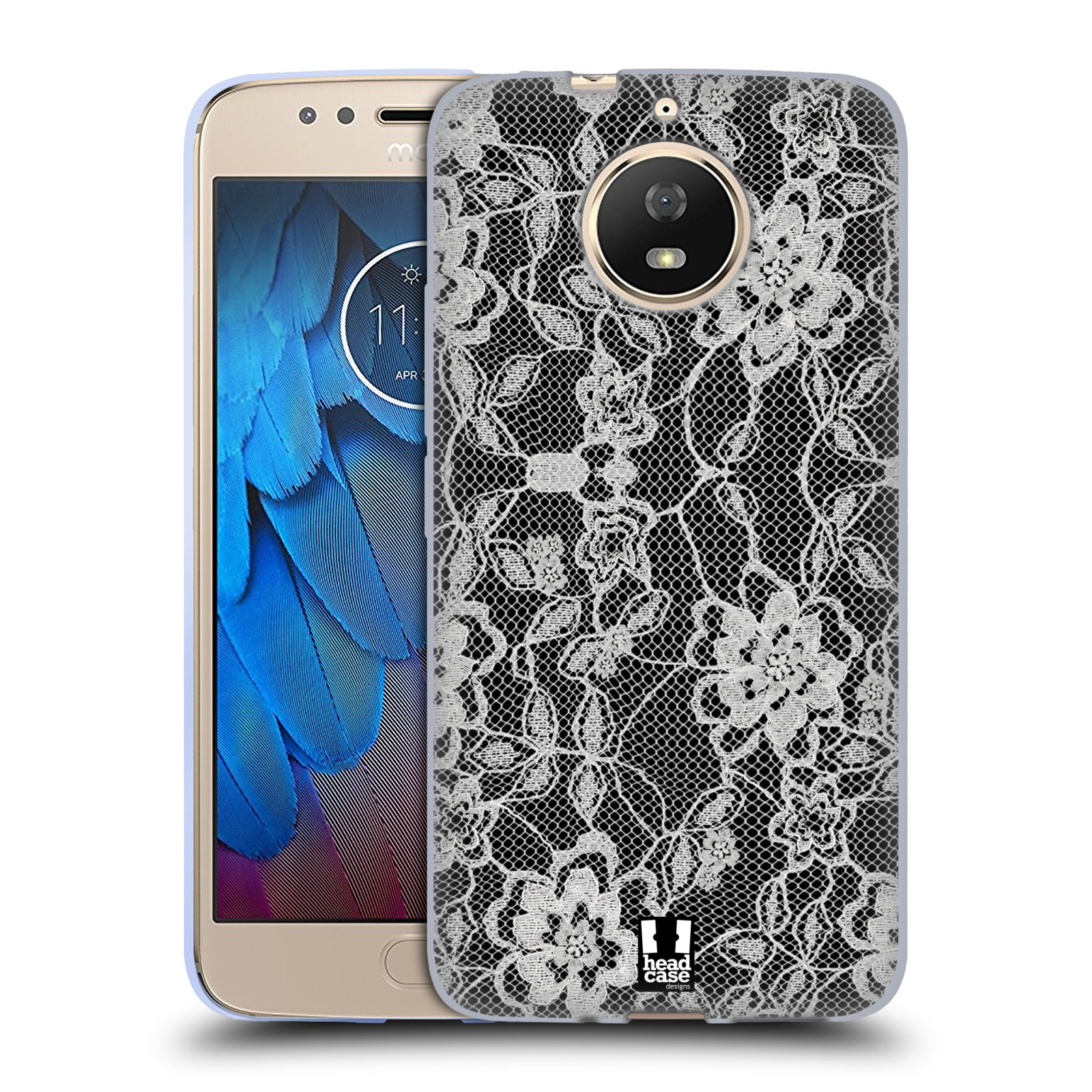 Silikonové pouzdro na mobil Lenovo Moto G5s - Head Case - FLOWERY KRAJKA