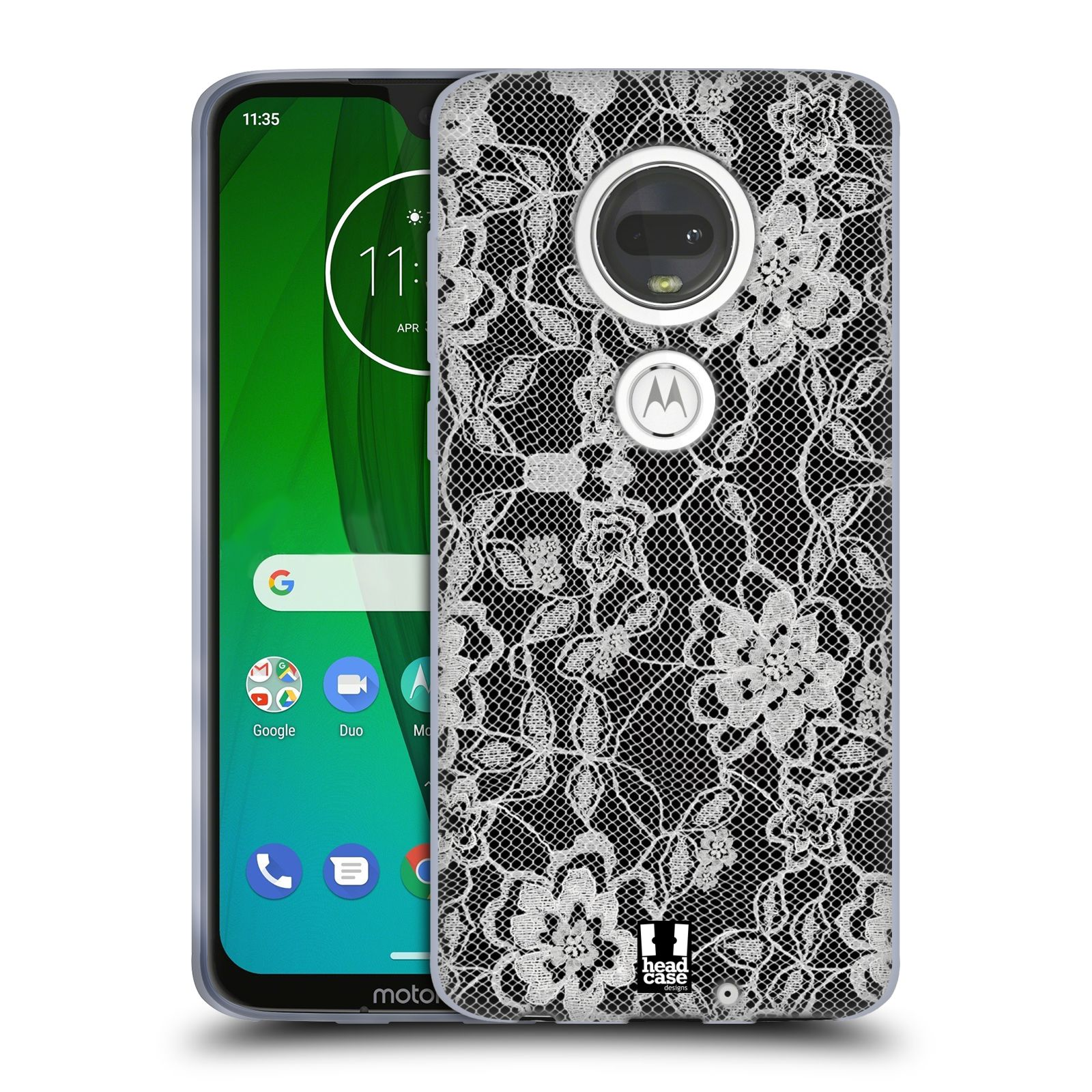 Silikonové pouzdro na mobil Motorola Moto G7 - Head Case - FLOWERY KRAJKA