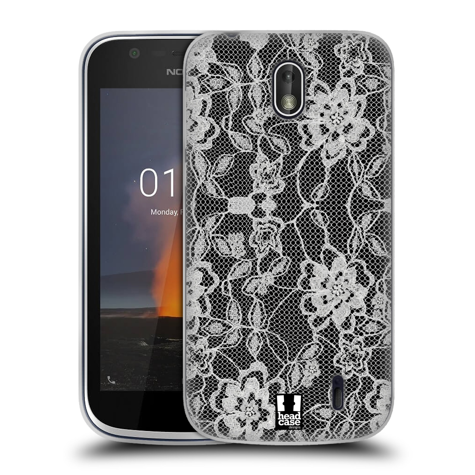 Silikonové pouzdro na mobil Nokia 1 - Head Case - FLOWERY KRAJKA
