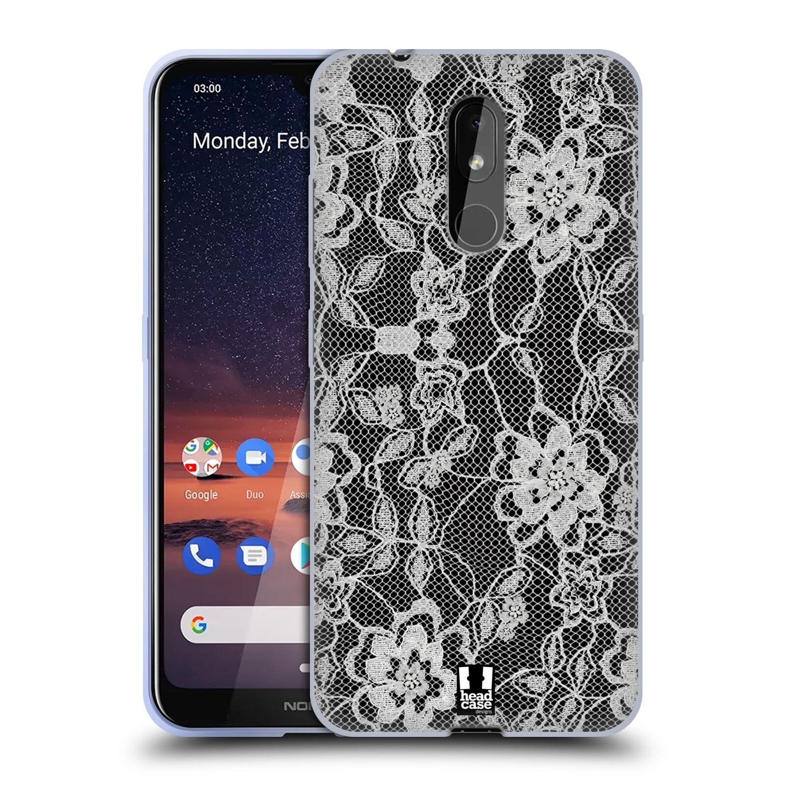 Silikonové pouzdro na mobil Nokia 3.2 - Head Case - FLOWERY KRAJKA