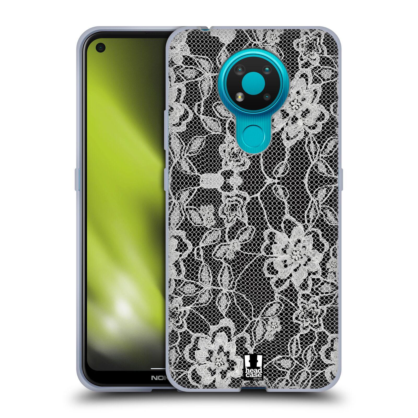 Silikonové pouzdro na mobil Nokia 3.4 - Head Case - FLOWERY KRAJKA