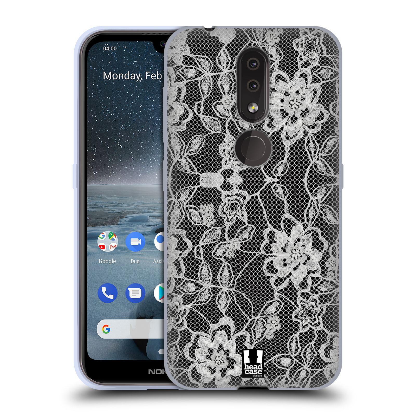 Silikonové pouzdro na mobil Nokia 4.2 - Head Case - FLOWERY KRAJKA