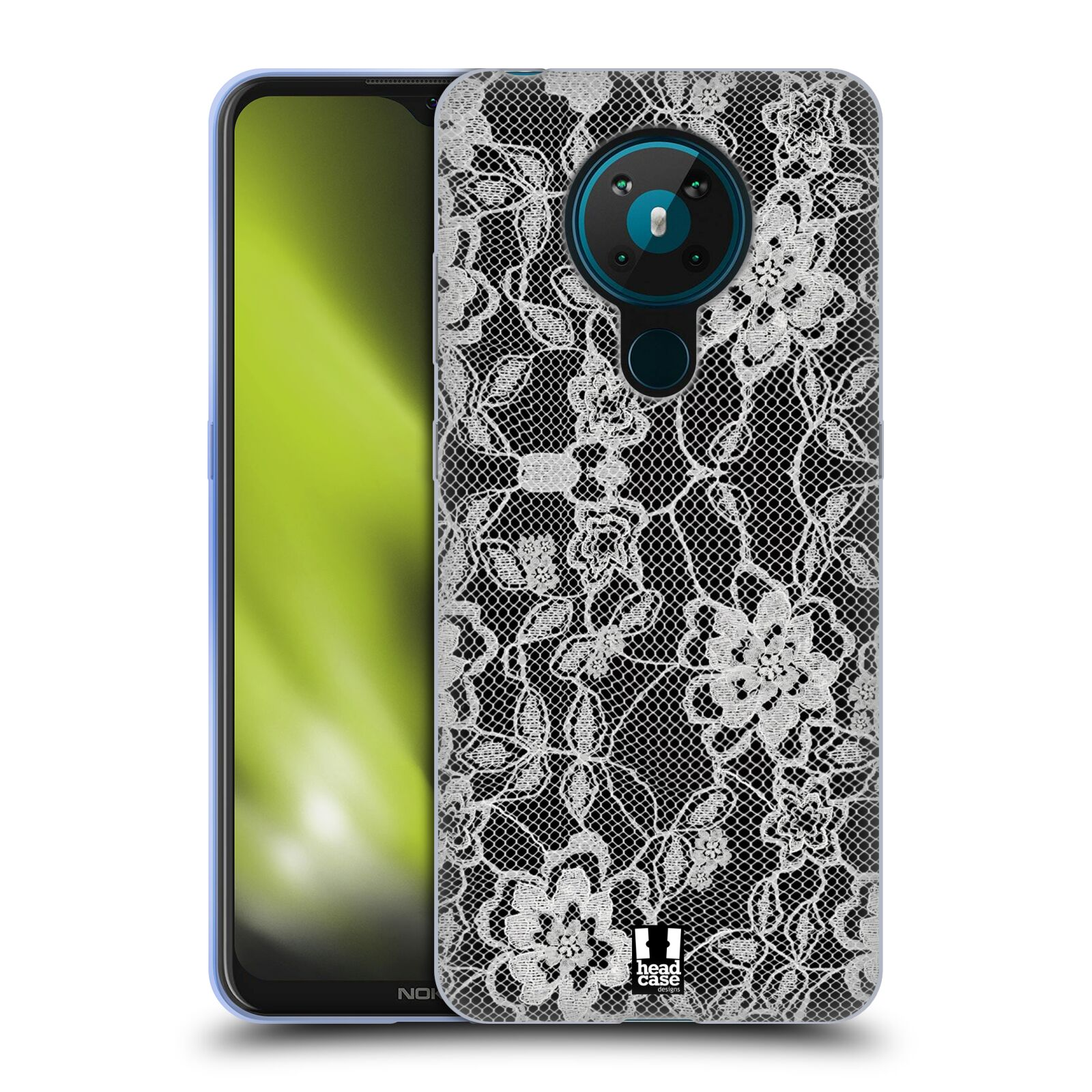 Silikonové pouzdro na mobil Nokia 5.3 - Head Case - FLOWERY KRAJKA