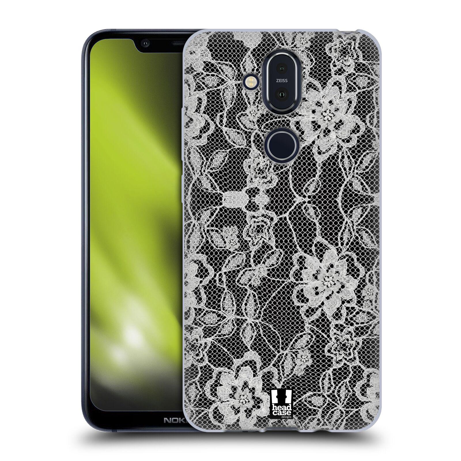 Silikonové pouzdro na mobil Nokia 8.1 - Head Case - FLOWERY KRAJKA