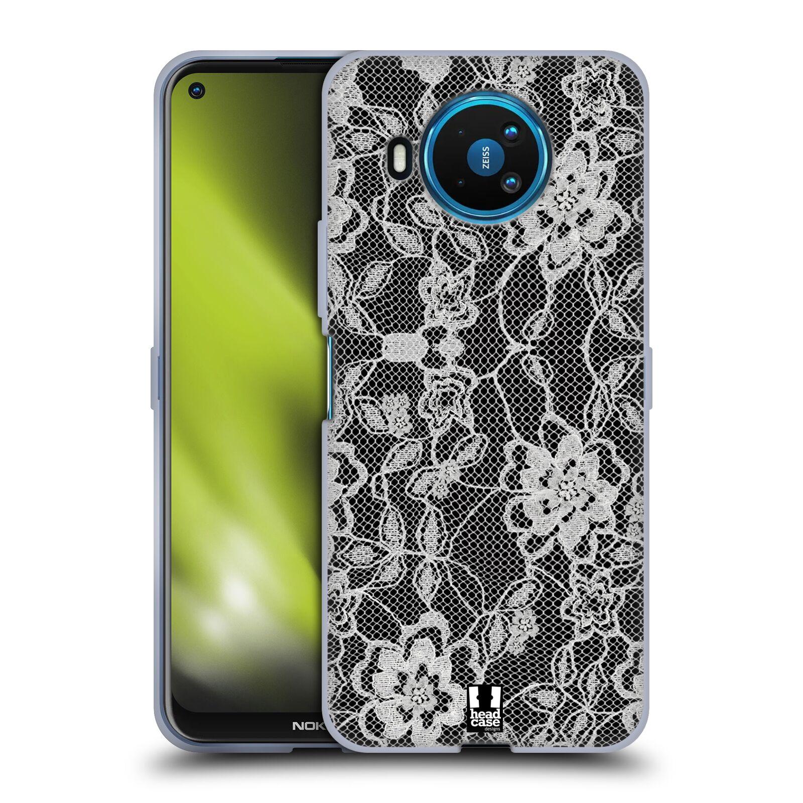 Silikonové pouzdro na mobil Nokia 8.3 5G - Head Case - FLOWERY KRAJKA