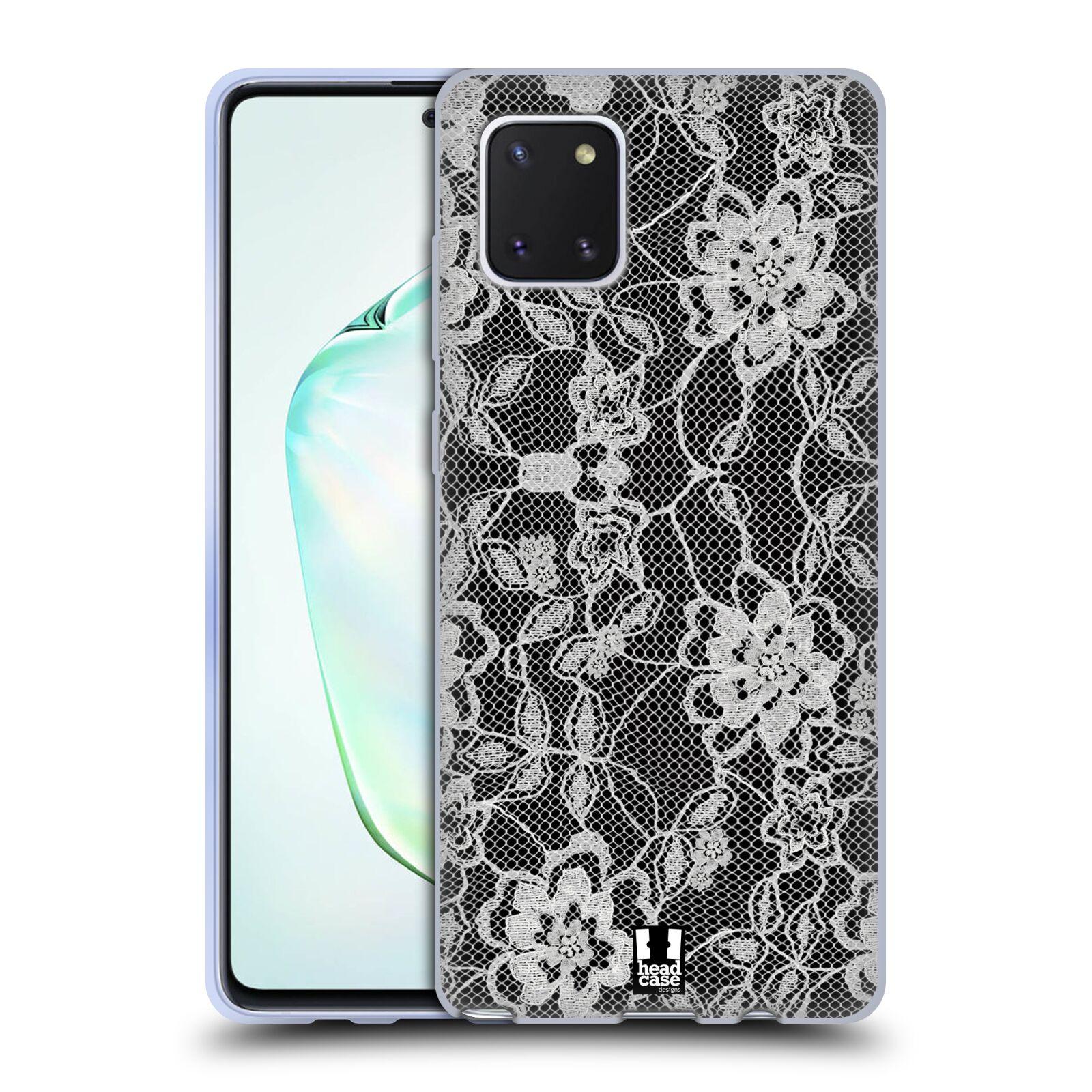 Silikonové pouzdro na mobil Samsung Galaxy Note 10 Lite - Head Case - FLOWERY KRAJKA