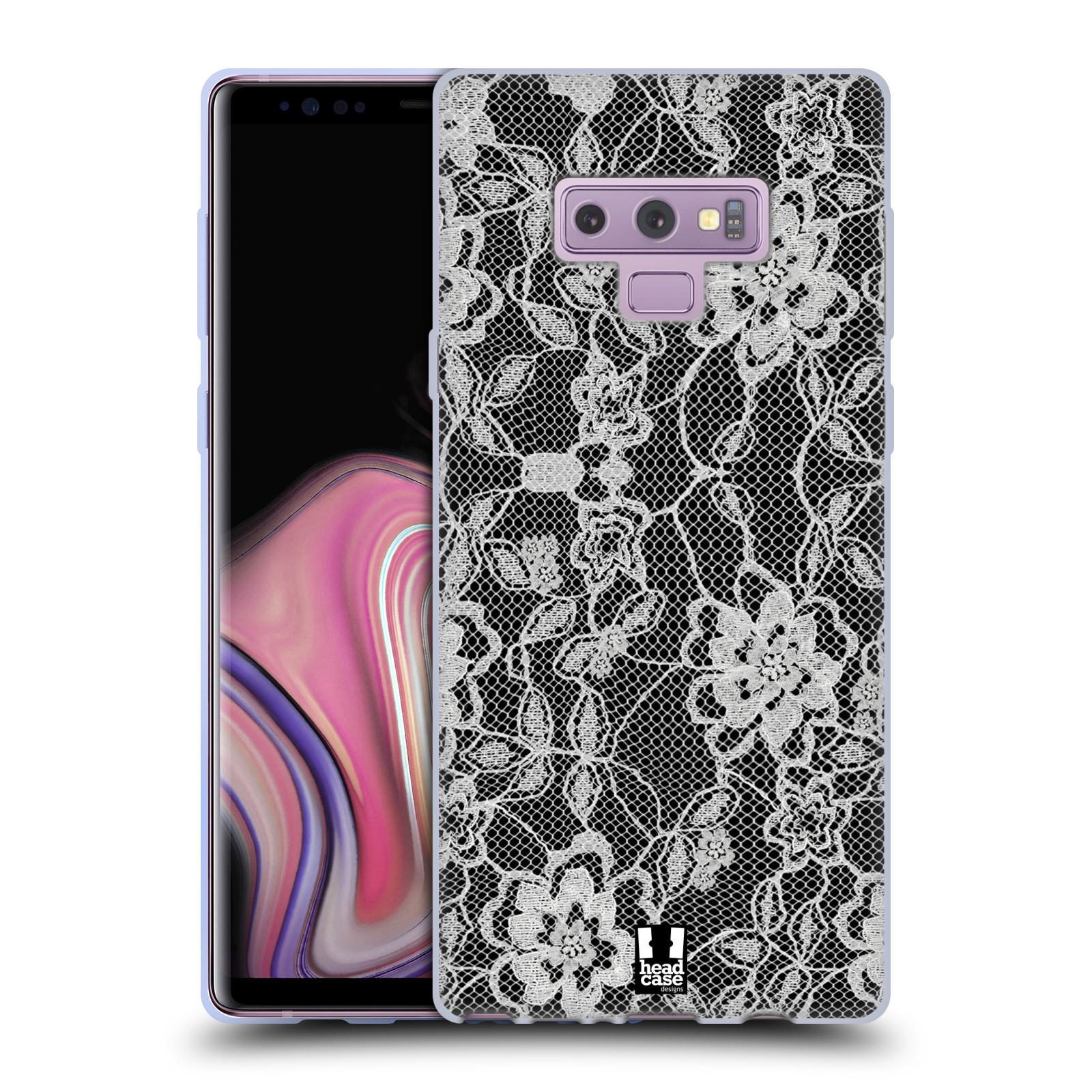 Silikonové pouzdro na mobil Samsung Galaxy Note 9 - Head Case - FLOWERY KRAJKA