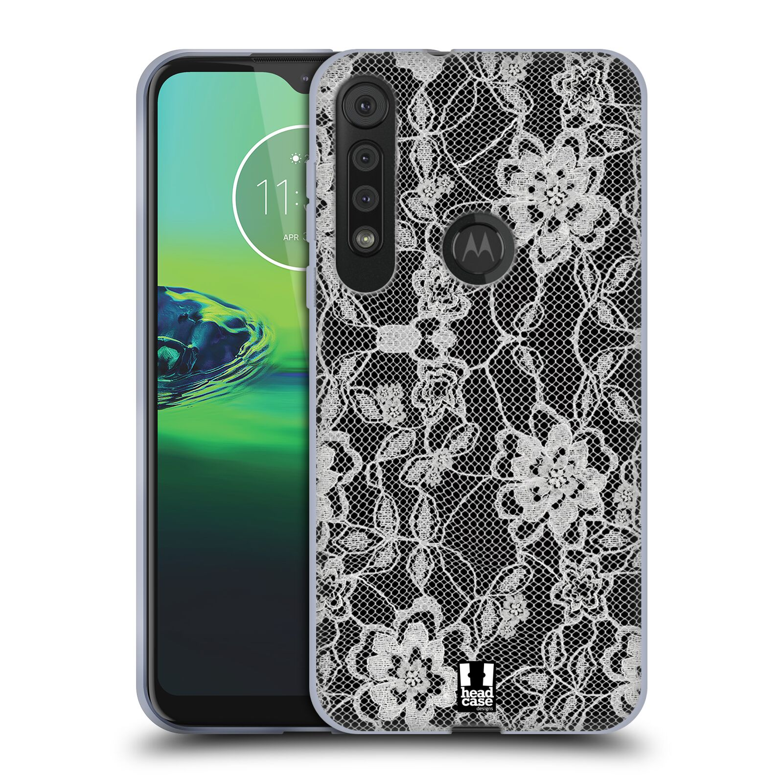 Silikonové pouzdro na mobil Motorola One Macro - Head Case - FLOWERY KRAJKA