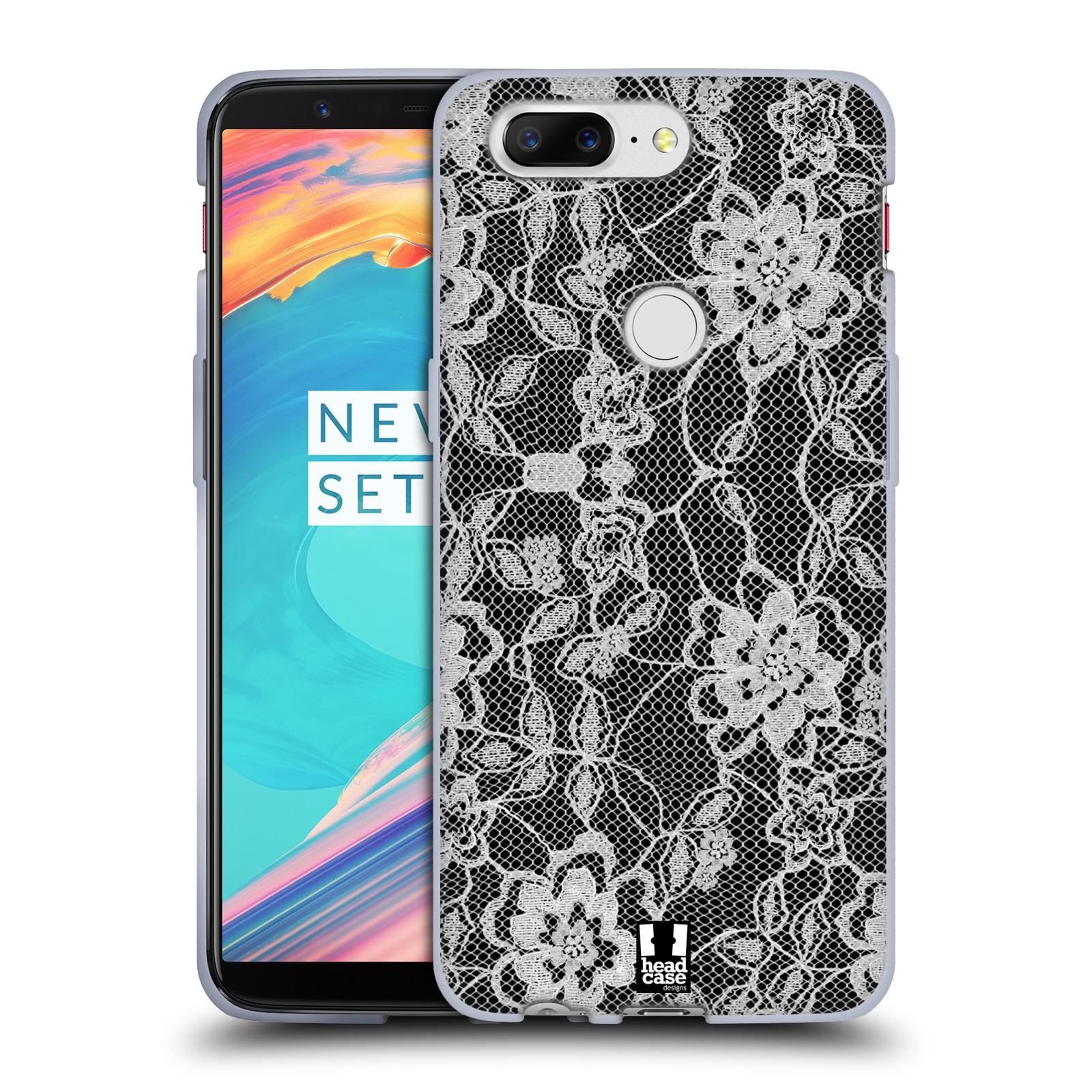 Silikonové pouzdro na mobil OnePlus 5T - Head Case - FLOWERY KRAJKA