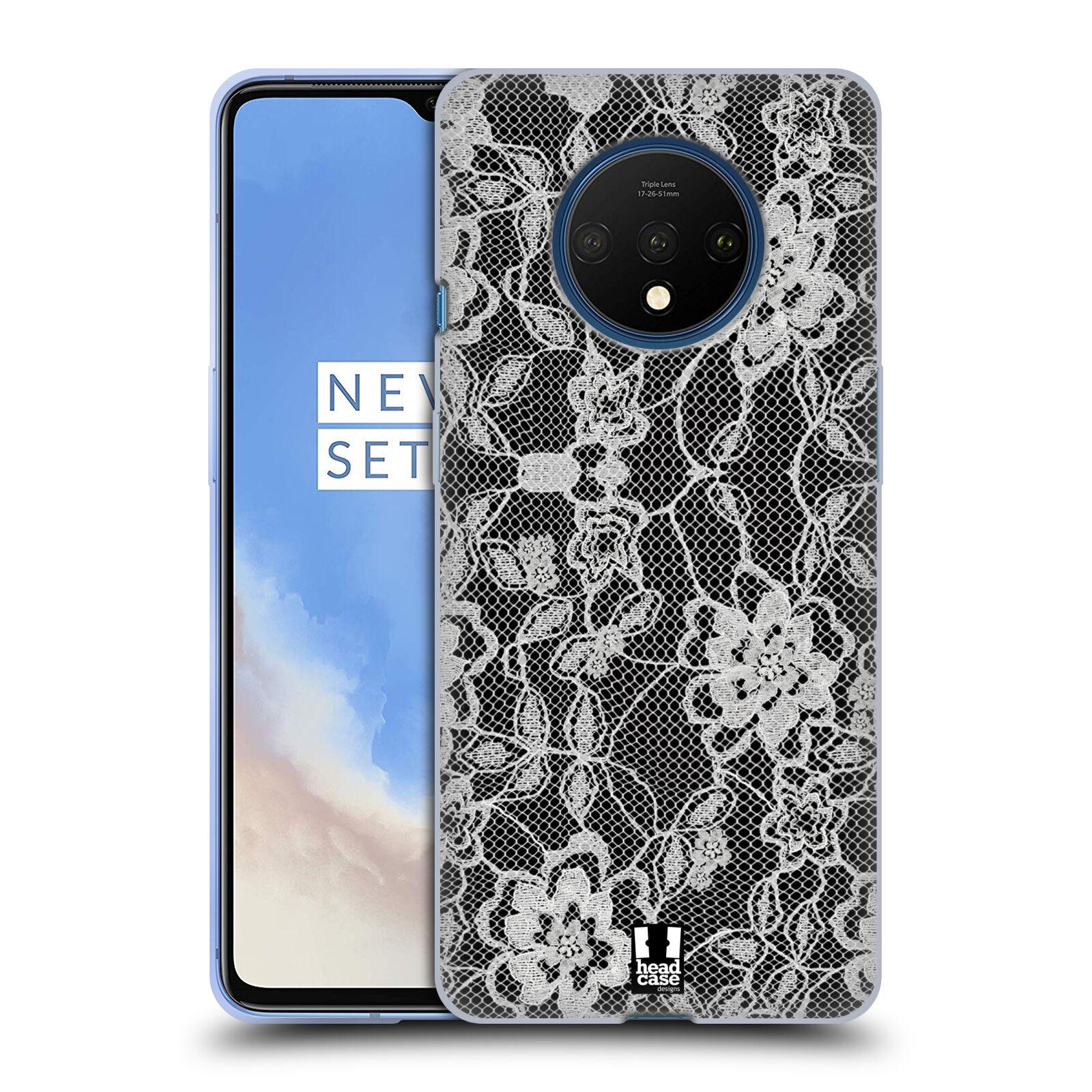 Silikonové pouzdro na mobil OnePlus 7T - Head Case - FLOWERY KRAJKA