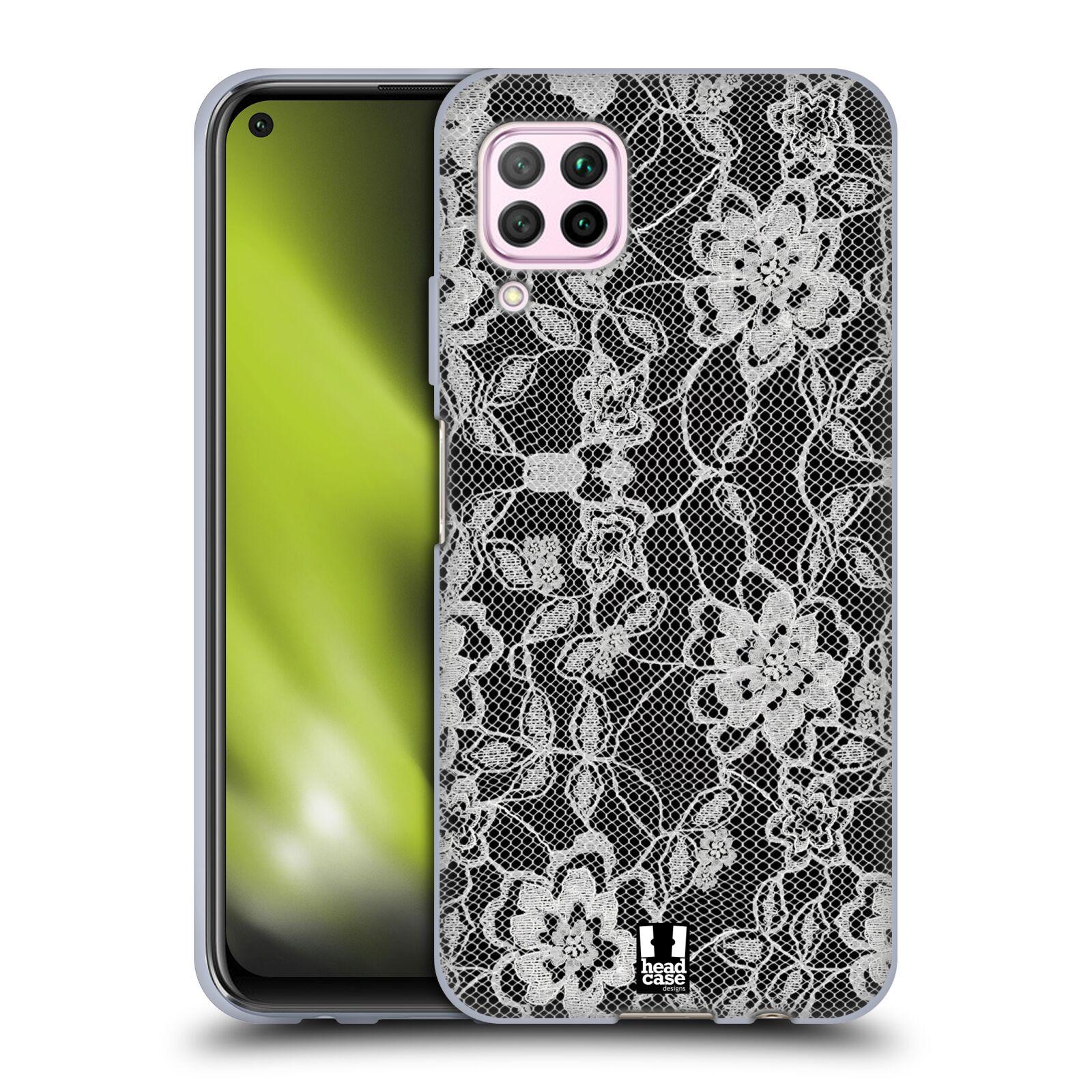 Silikonové pouzdro na mobil Huawei P40 Lite - Head Case - FLOWERY KRAJKA
