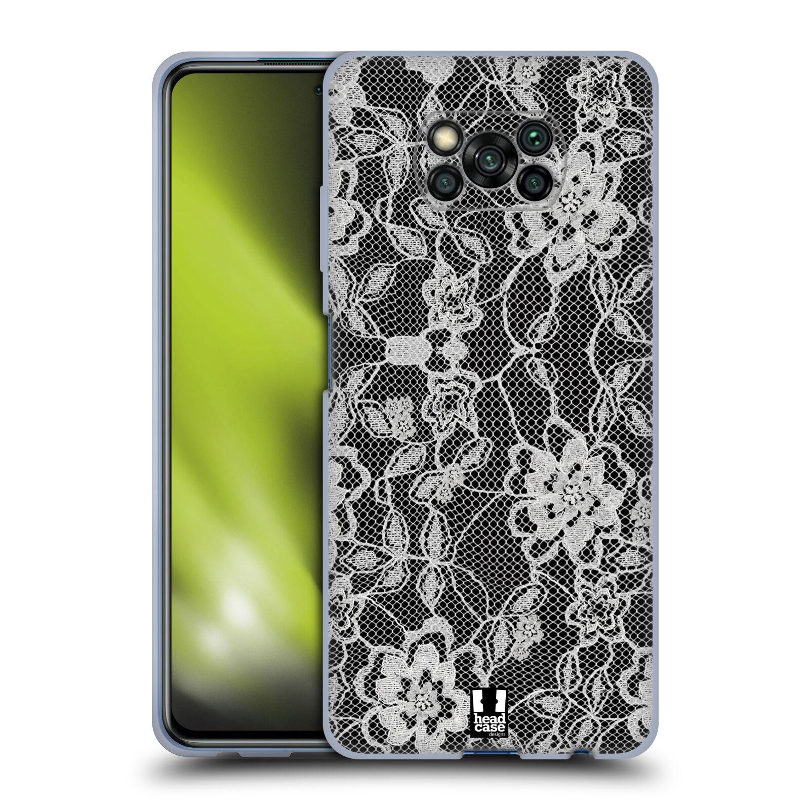 Silikonové pouzdro na mobil Xiaomi Poco X3 NFC - Head Case - FLOWERY KRAJKA