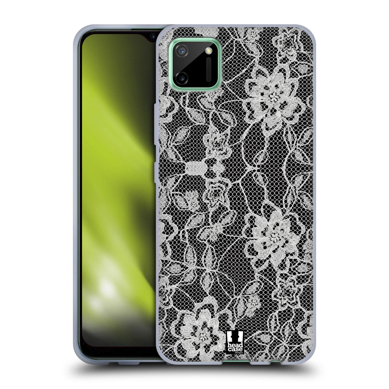 Silikonové pouzdro na mobil Realme C11 - Head Case - FLOWERY KRAJKA