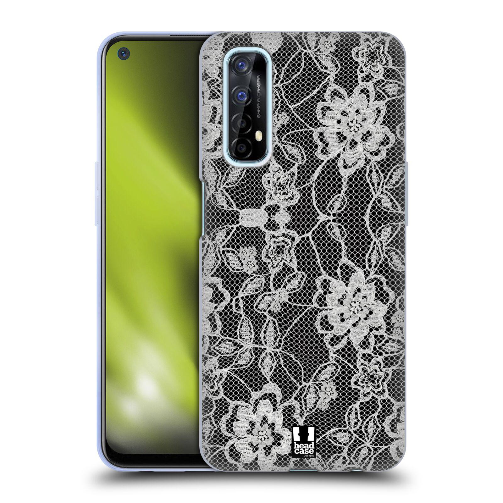 Silikonové pouzdro na mobil Realme 7 - Head Case - FLOWERY KRAJKA
