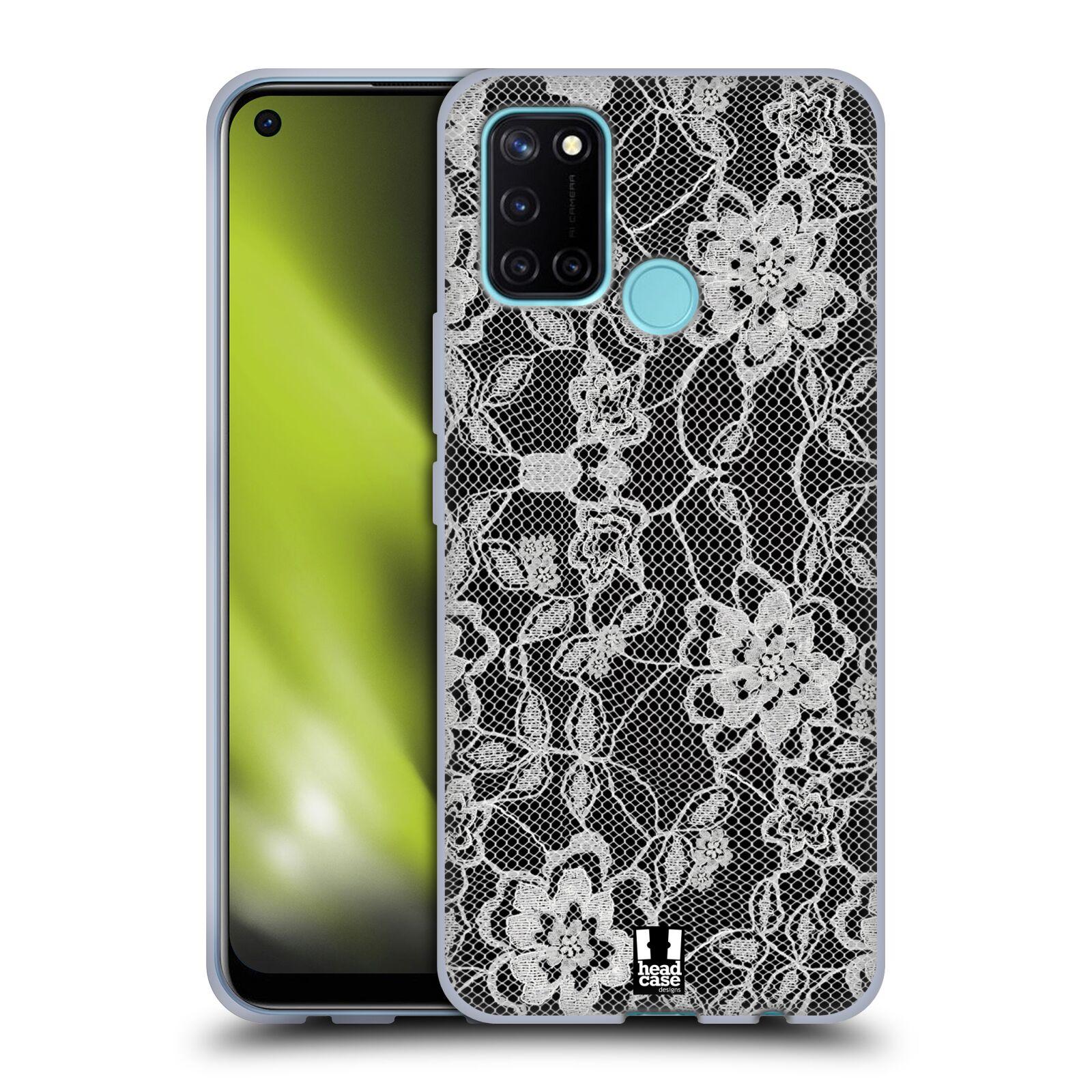 Silikonové pouzdro na mobil Realme 7i - Head Case - FLOWERY KRAJKA