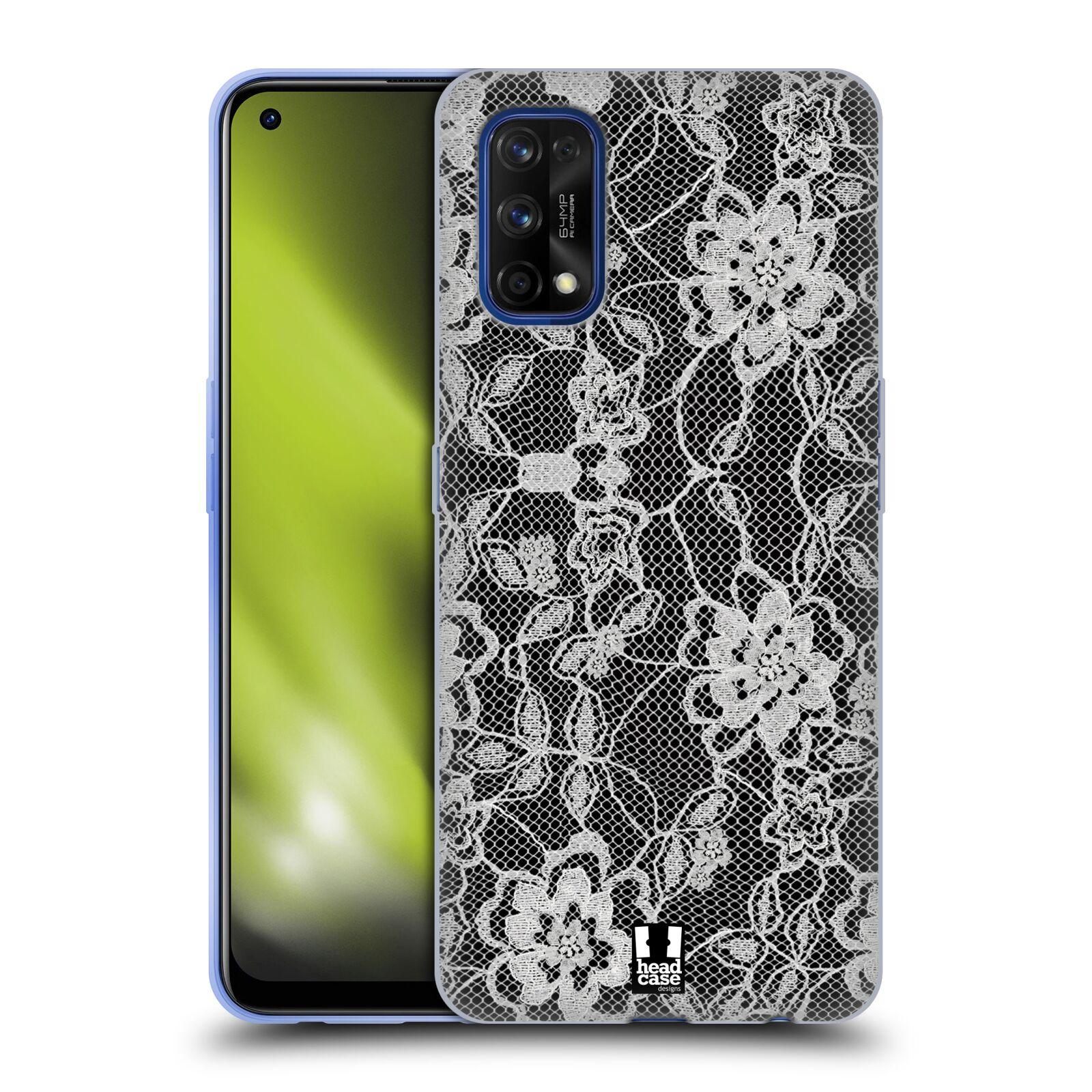 Silikonové pouzdro na mobil Realme 7 Pro - Head Case - FLOWERY KRAJKA