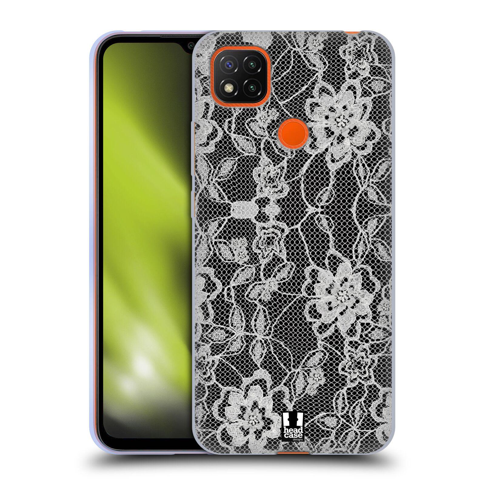 Silikonové pouzdro na mobil Xiaomi Redmi 9C - Head Case - FLOWERY KRAJKA