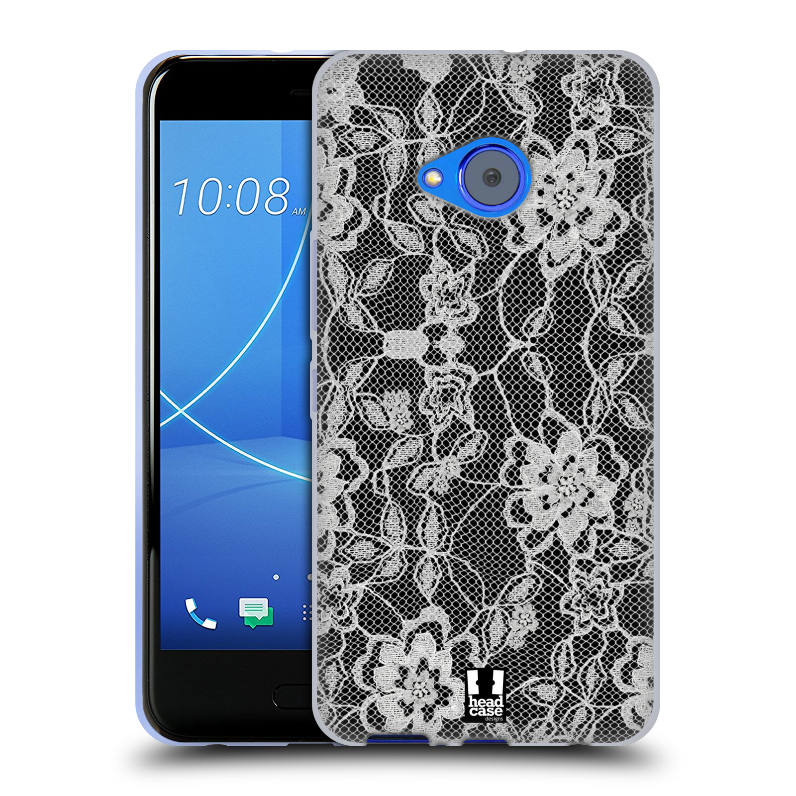 Silikonové pouzdro na mobil HTC U11 Life - Head Case - FLOWERY KRAJKA
