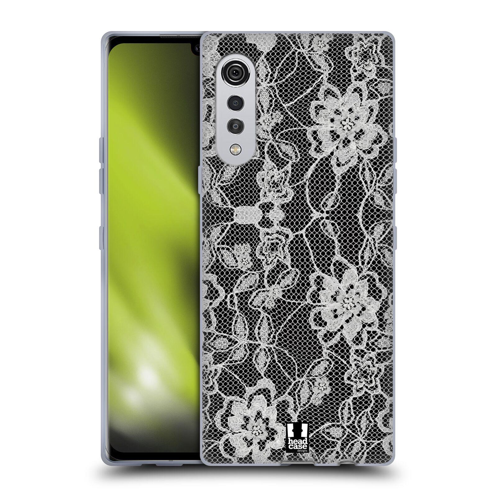 Silikonové pouzdro na mobil LG Velvet - Head Case - FLOWERY KRAJKA