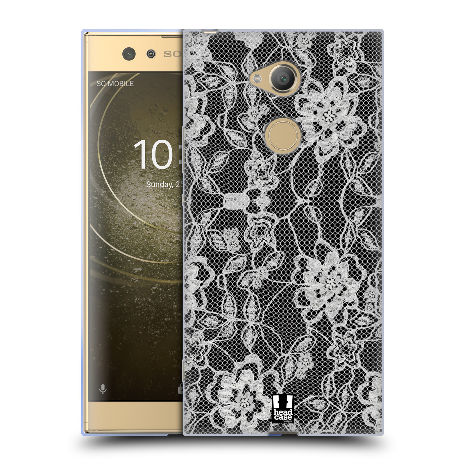 Silikonové pouzdro na mobil Sony Xperia XA2 Ultra - Head Case - FLOWERY KRAJKA