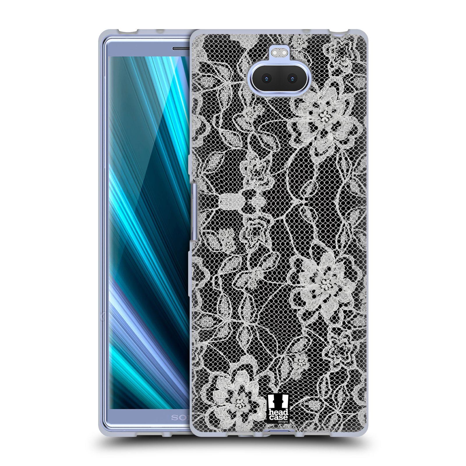 Silikonové pouzdro na mobil Sony Xperia 10 - Head Case - FLOWERY KRAJKA