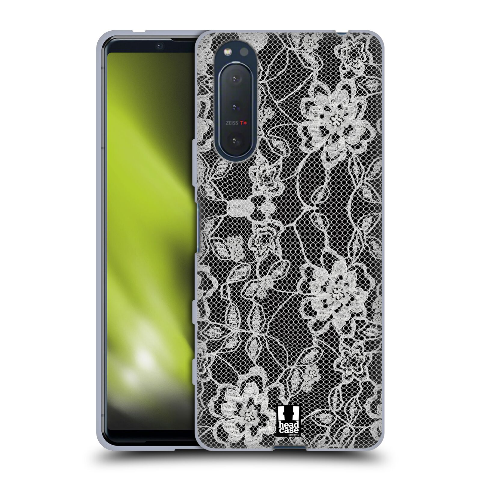 Silikonové pouzdro na mobil Sony Xperia 5 II - Head Case - FLOWERY KRAJKA