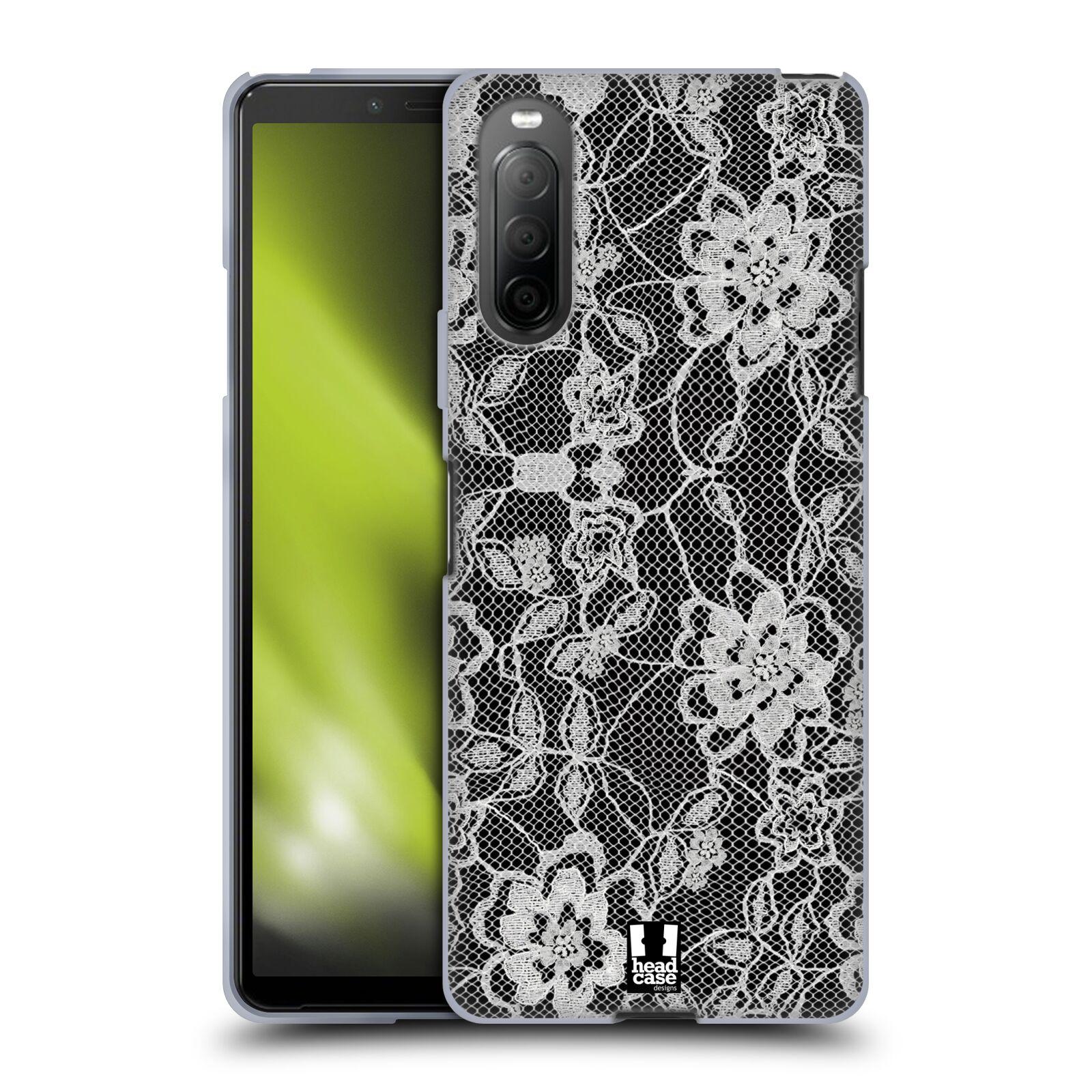 Silikonové pouzdro na mobil Sony Xperia 10 II - Head Case - FLOWERY KRAJKA