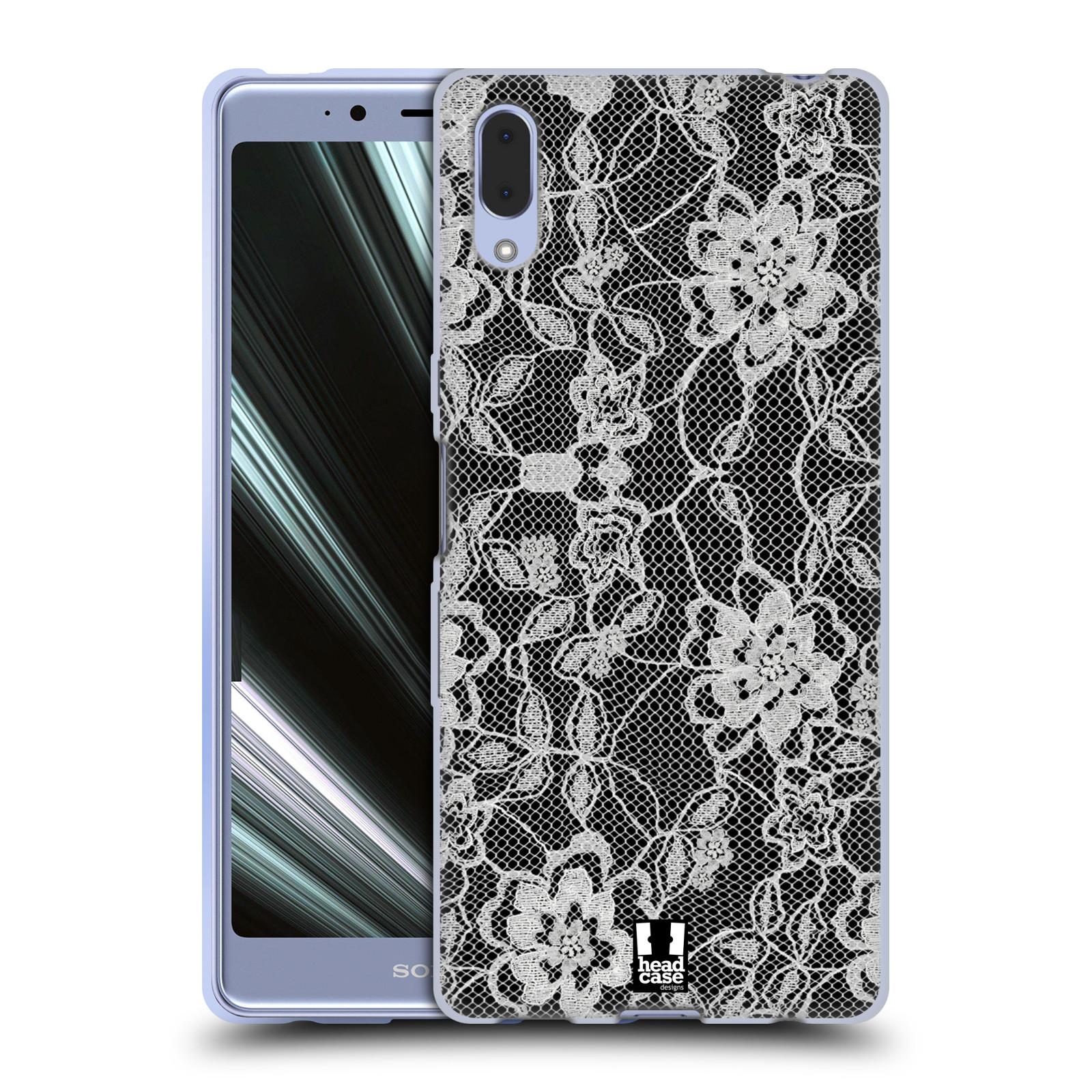 Silikonové pouzdro na mobil Sony Xperia L3 - Head Case - FLOWERY KRAJKA