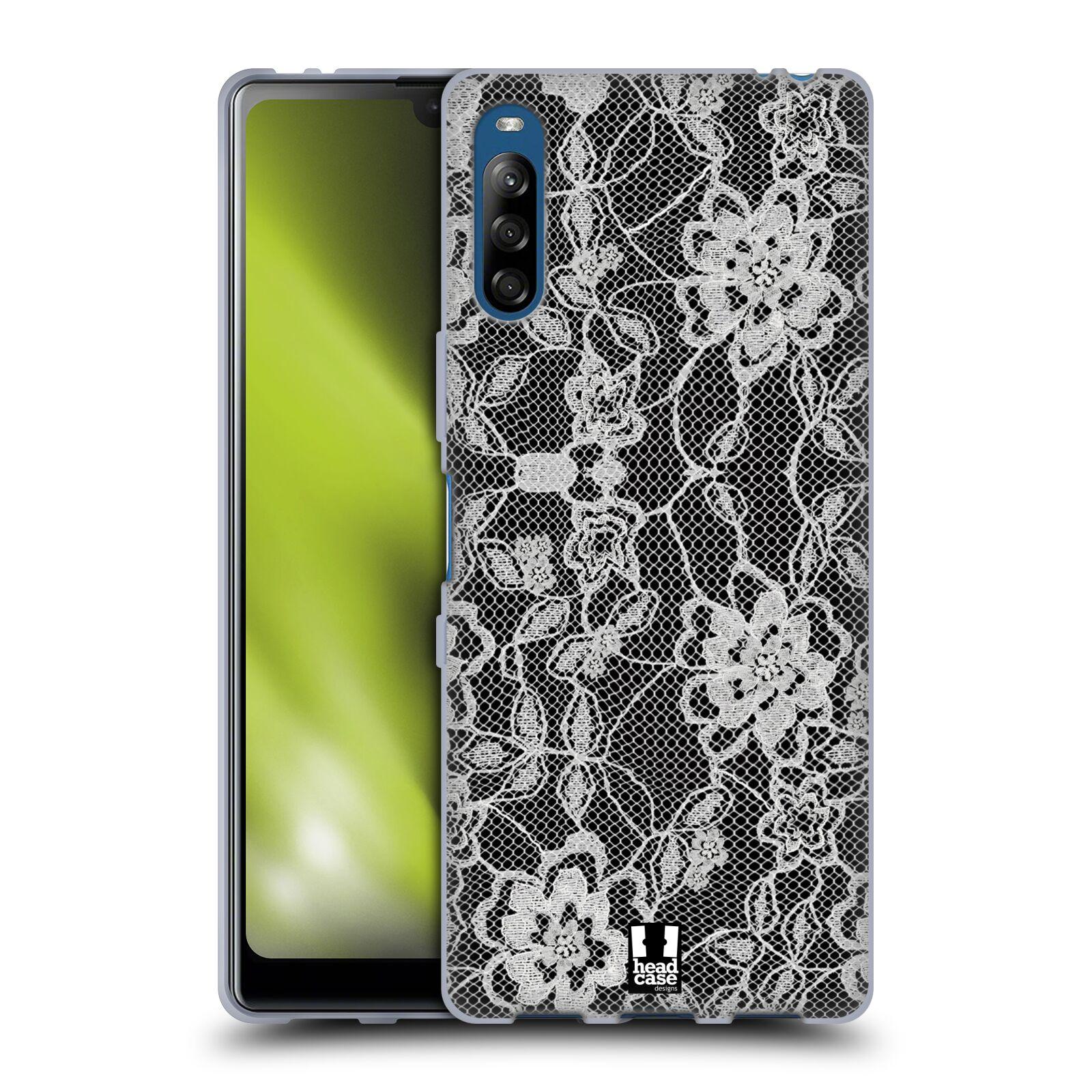 Silikonové pouzdro na mobil Sony Xperia L4 - Head Case - FLOWERY KRAJKA