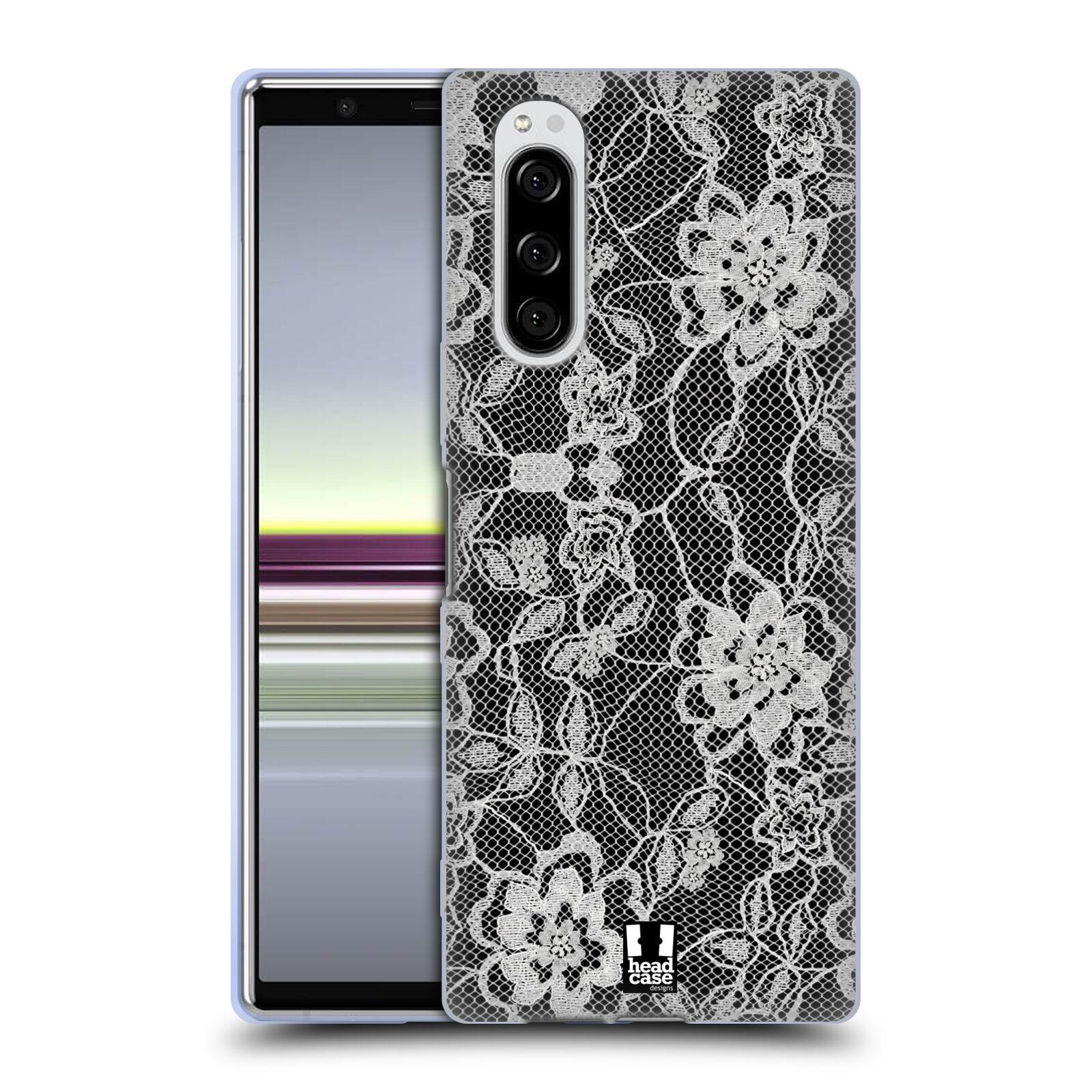 Silikonové pouzdro na mobil Sony Xperia 5 - Head Case - FLOWERY KRAJKA