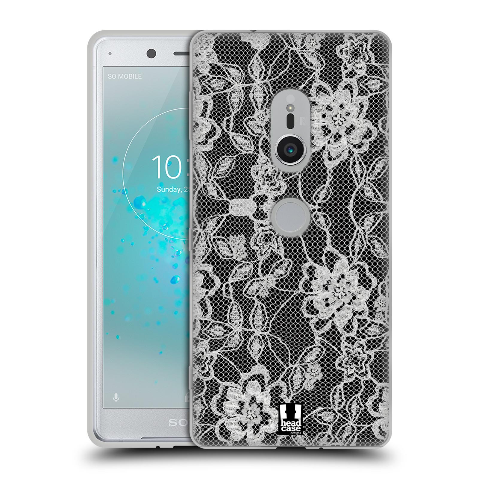 Silikonové pouzdro na mobil Sony Xperia XZ2 - Head Case - FLOWERY KRAJKA