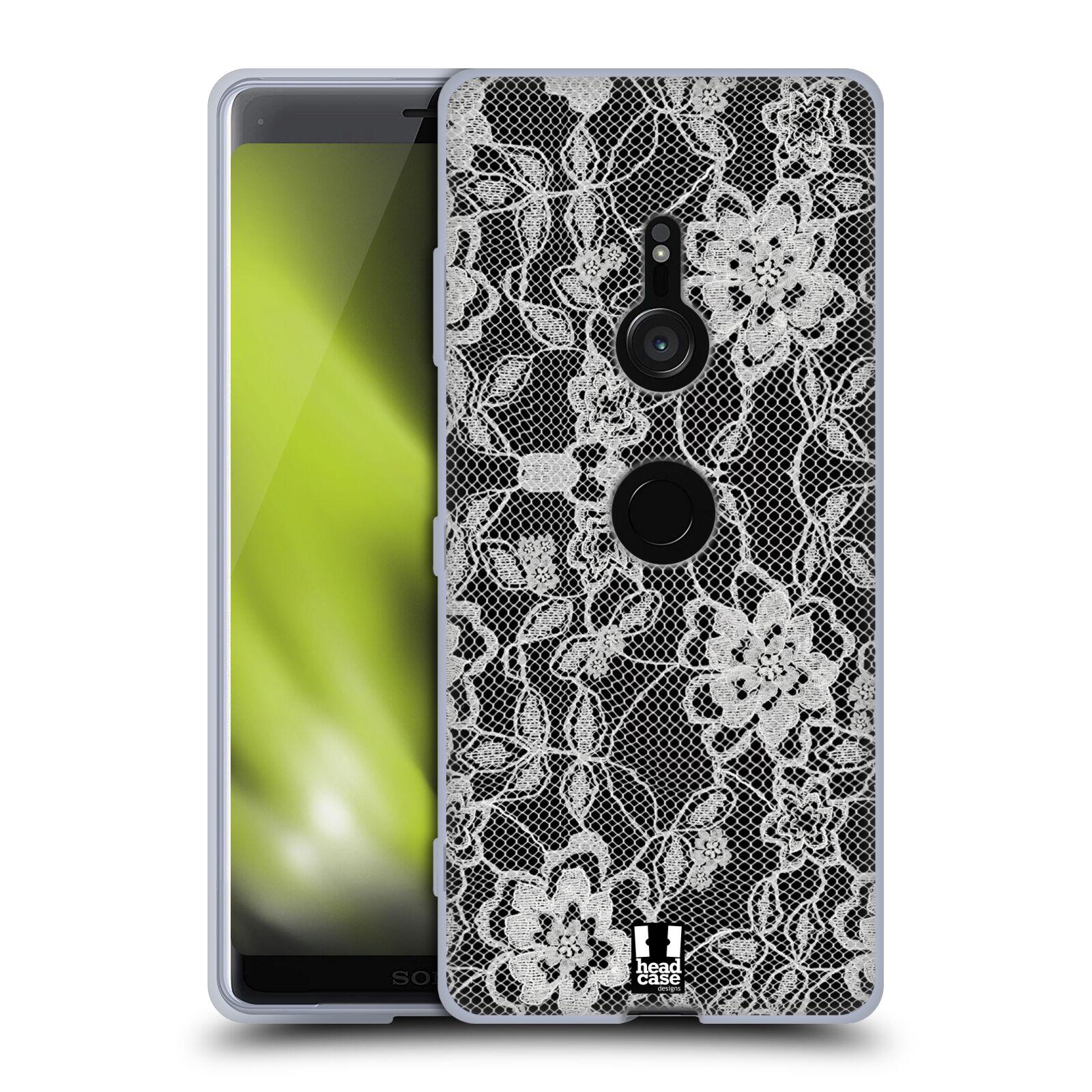 Silikonové pouzdro na mobil Sony Xperia XZ3 - Head Case - FLOWERY KRAJKA