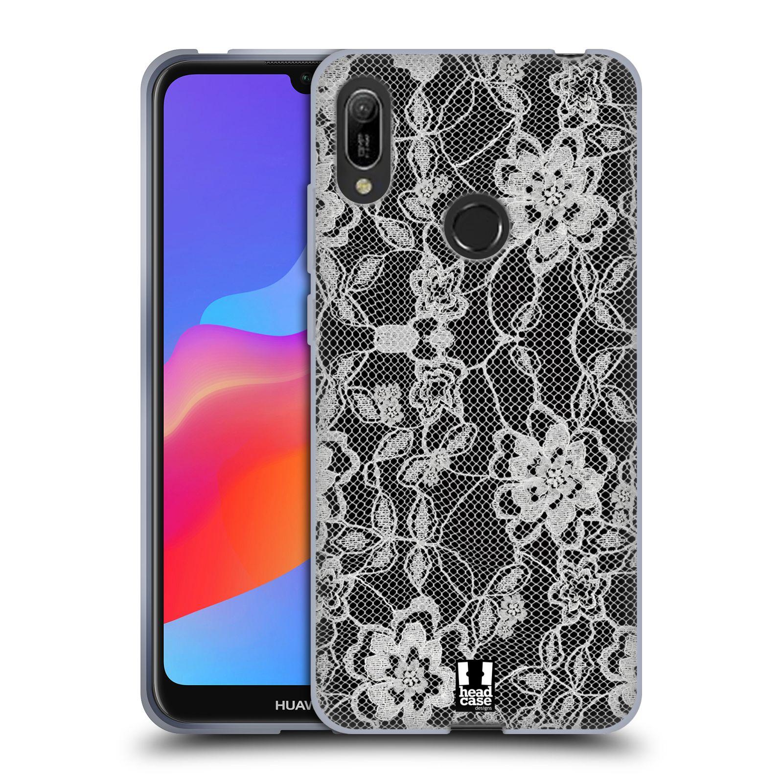 Silikonové pouzdro na mobil Huawei Y6 (2019) - Head Case - FLOWERY KRAJKA