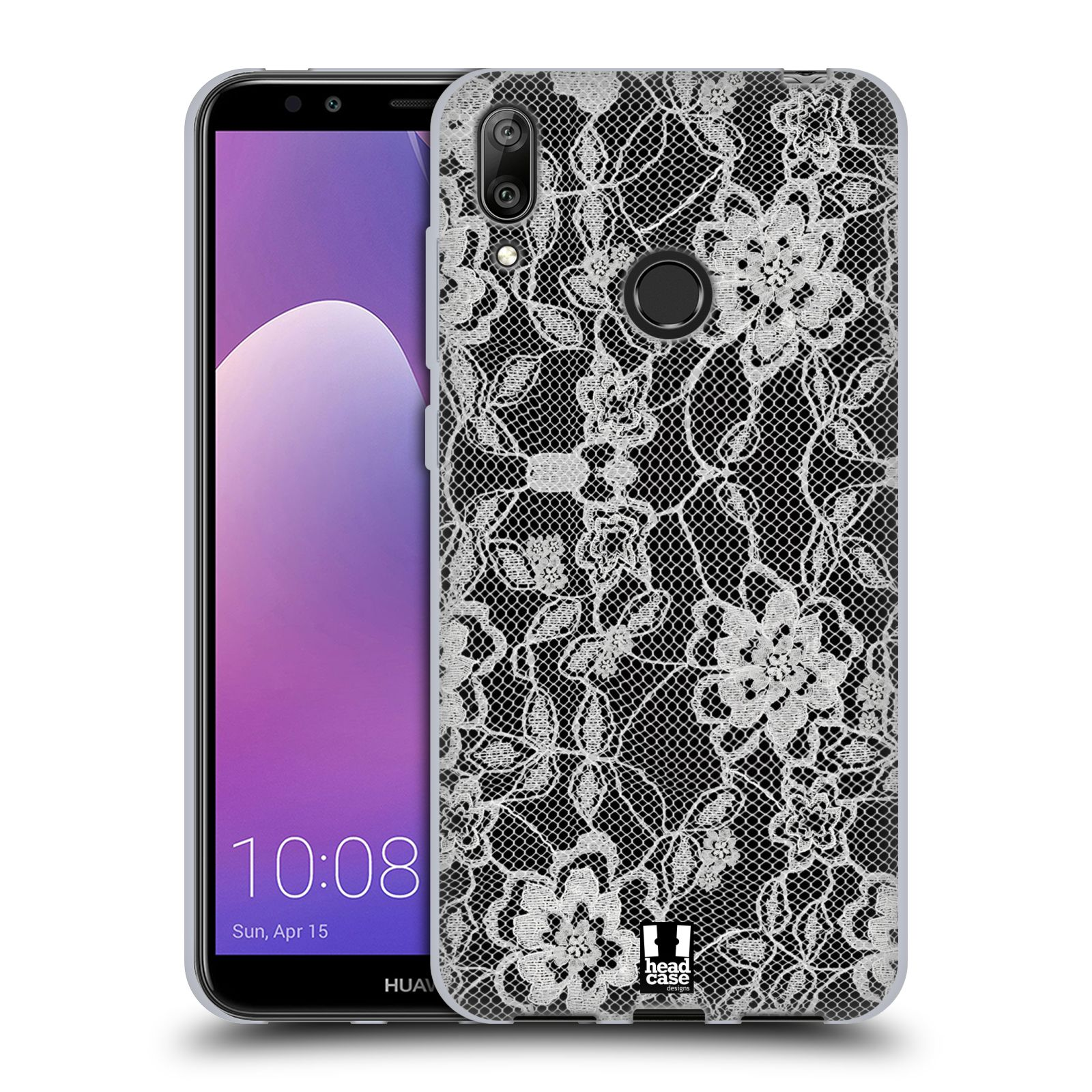 Silikonové pouzdro na mobil Huawei Y7 (2019) - Head Case - FLOWERY KRAJKA