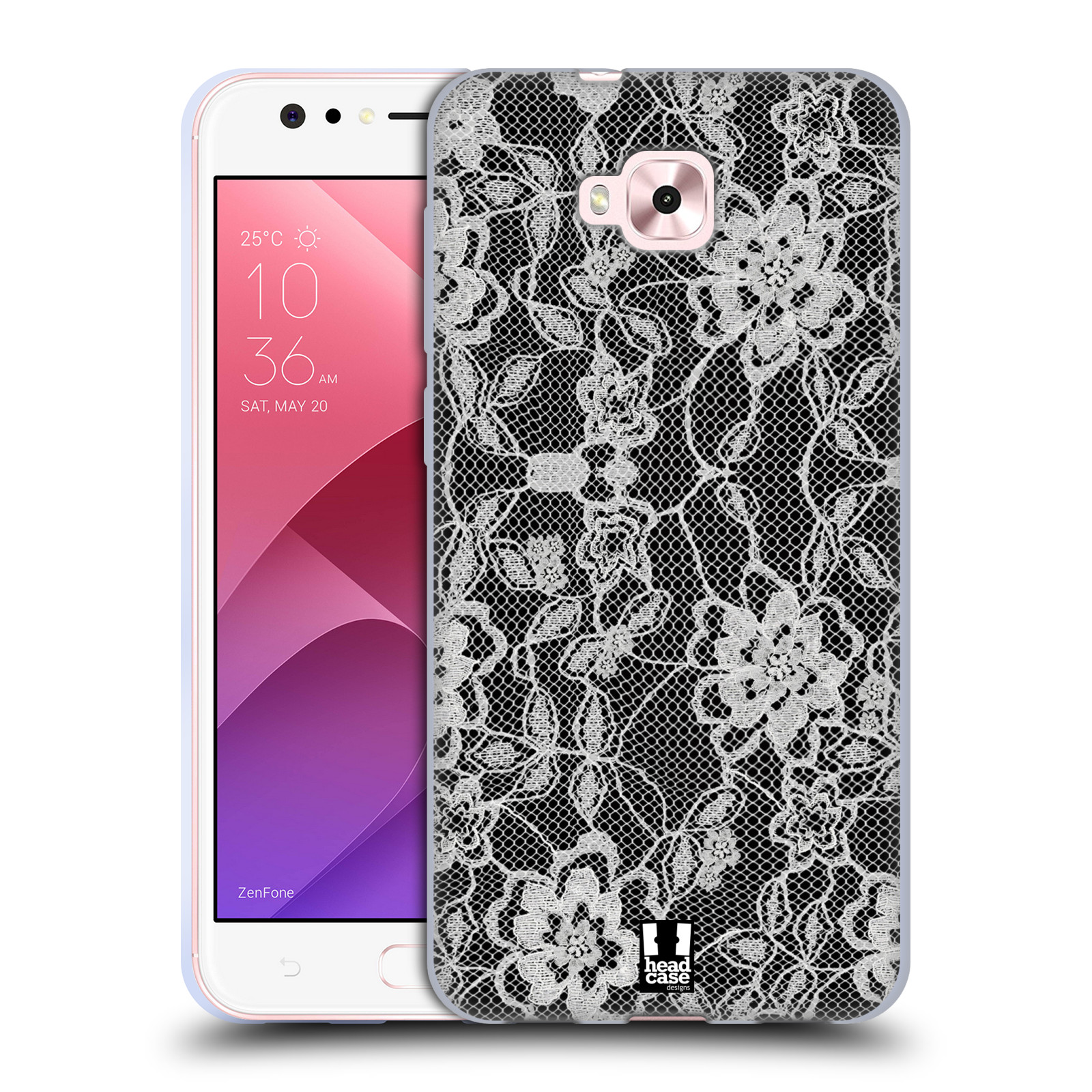 Silikonové pouzdro na mobil Asus Zenfone 4 Selfie ZD553KL - Head Case - FLOWERY KRAJKA