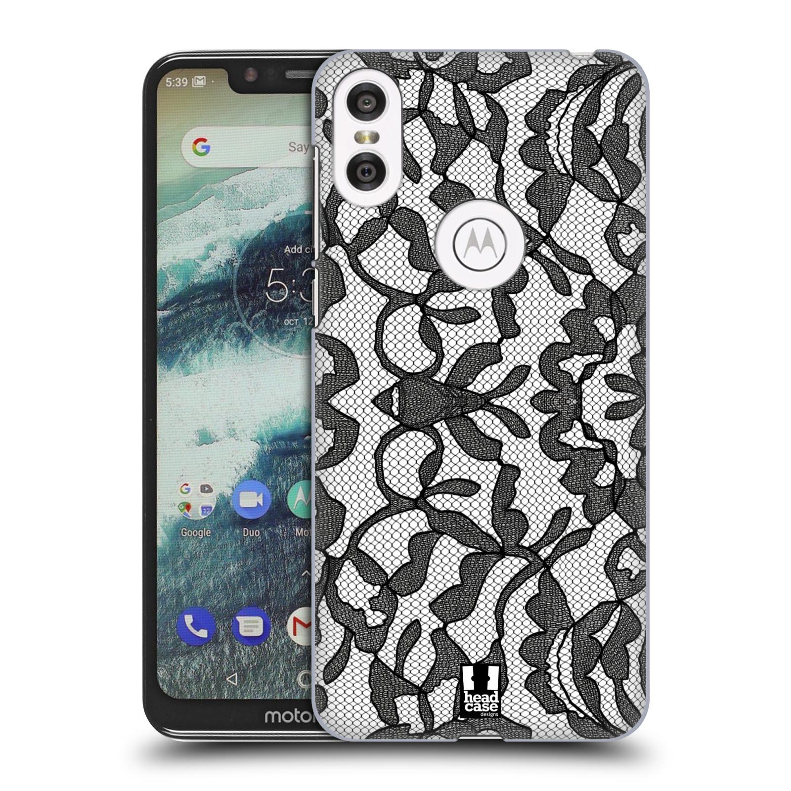 Plastové pouzdro na mobil Motorola One - Head Case - LEAFY KRAJKA
