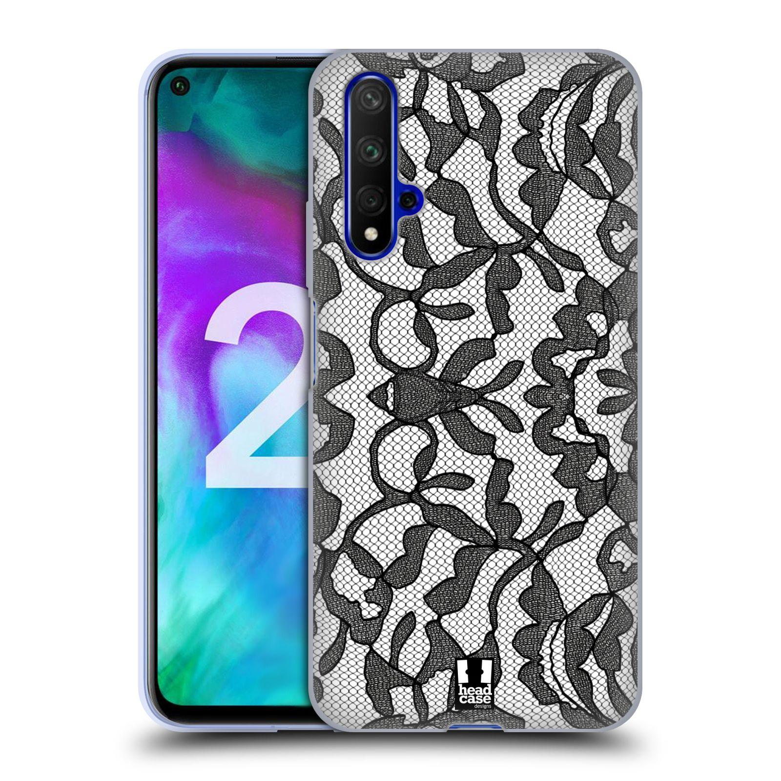 Silikonové pouzdro na mobil Honor 20 - Head Case - LEAFY KRAJKA