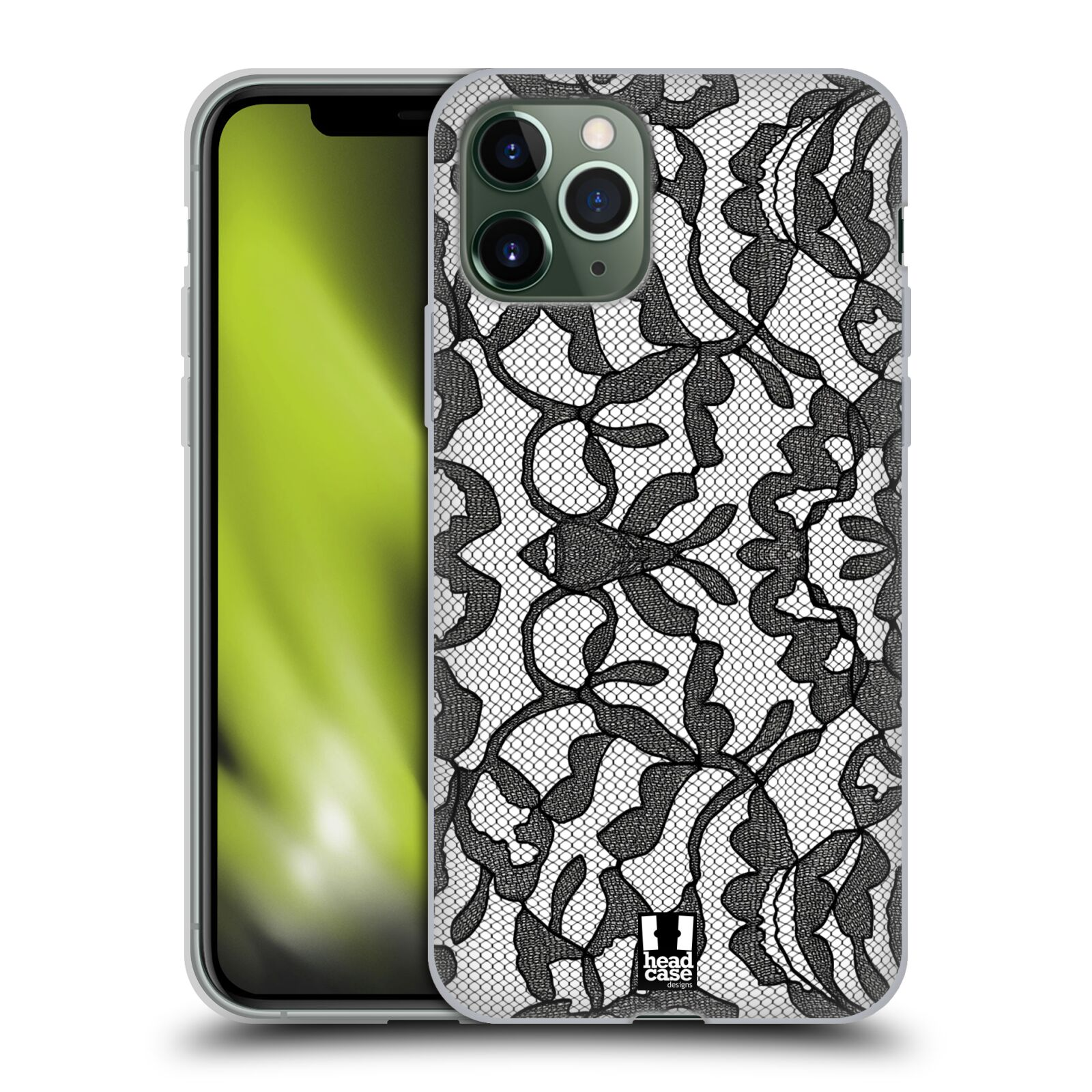 gucci iphone x amazon | Silikonové pouzdro na mobil Apple iPhone 11 Pro - Head Case - LEAFY KRAJKA