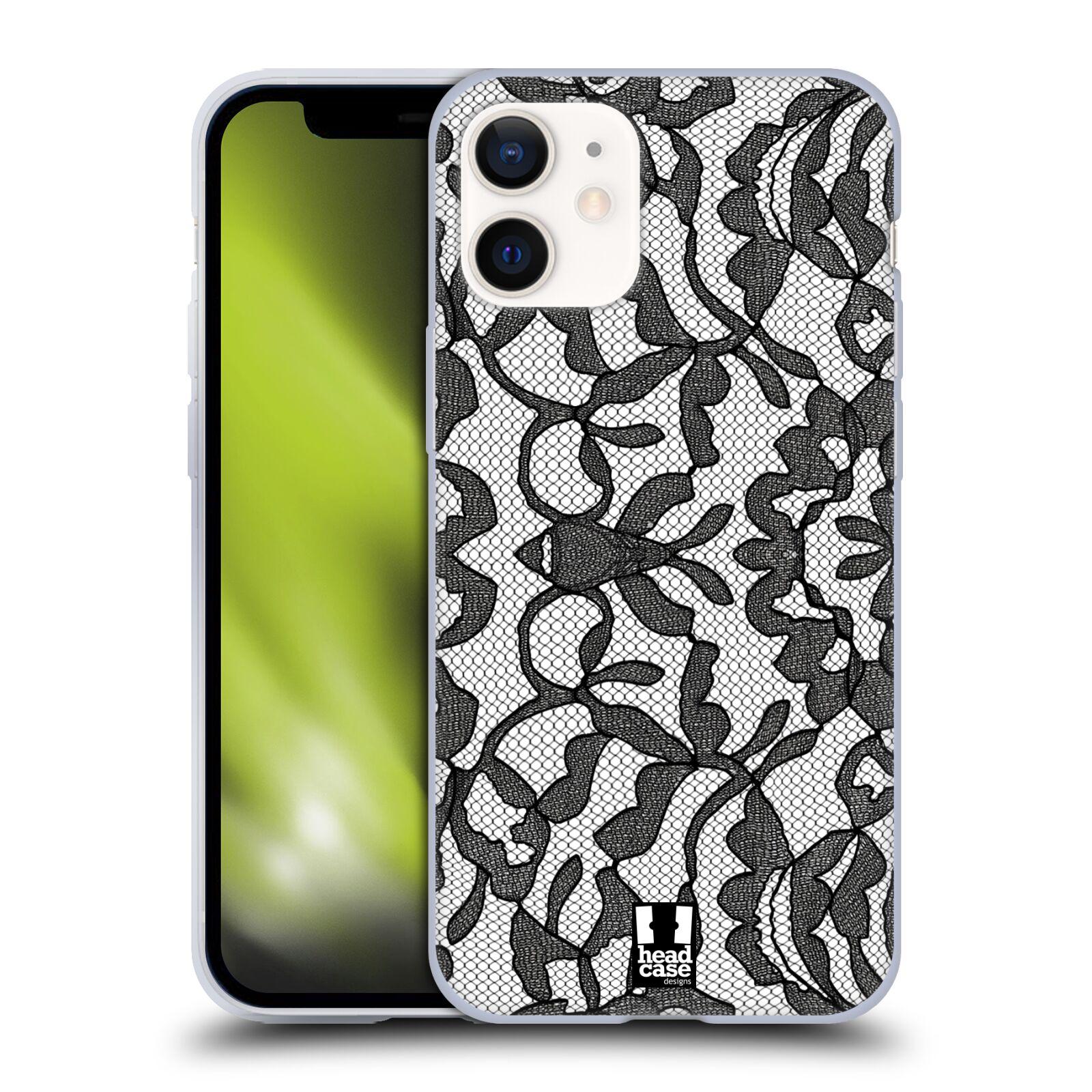 Silikonové pouzdro na mobil Apple iPhone 12 Mini - Head Case - LEAFY KRAJKA