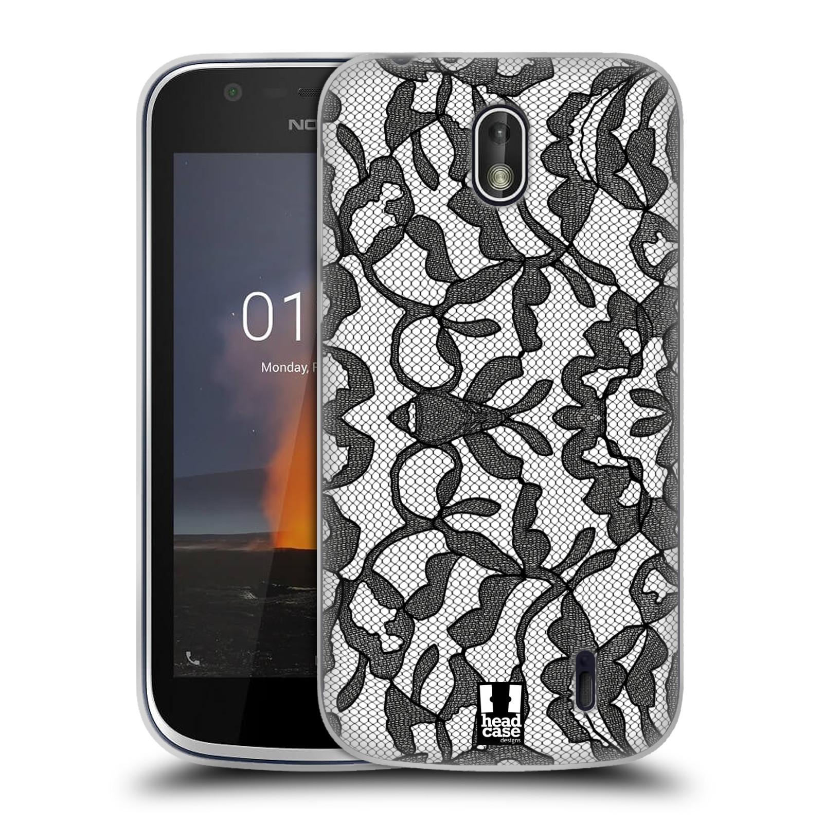 Silikonové pouzdro na mobil Nokia 1 - Head Case - LEAFY KRAJKA