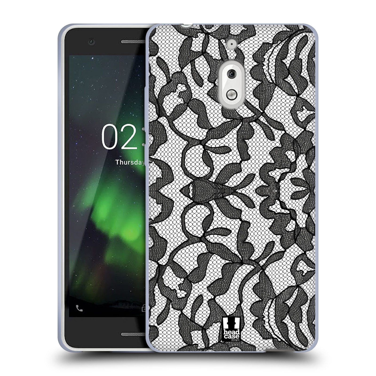 Silikonové pouzdro na mobil Nokia 2.1 - Head Case - LEAFY KRAJKA