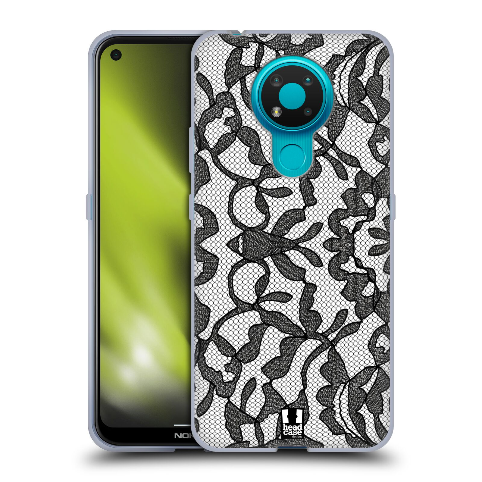 Silikonové pouzdro na mobil Nokia 3.4 - Head Case - LEAFY KRAJKA